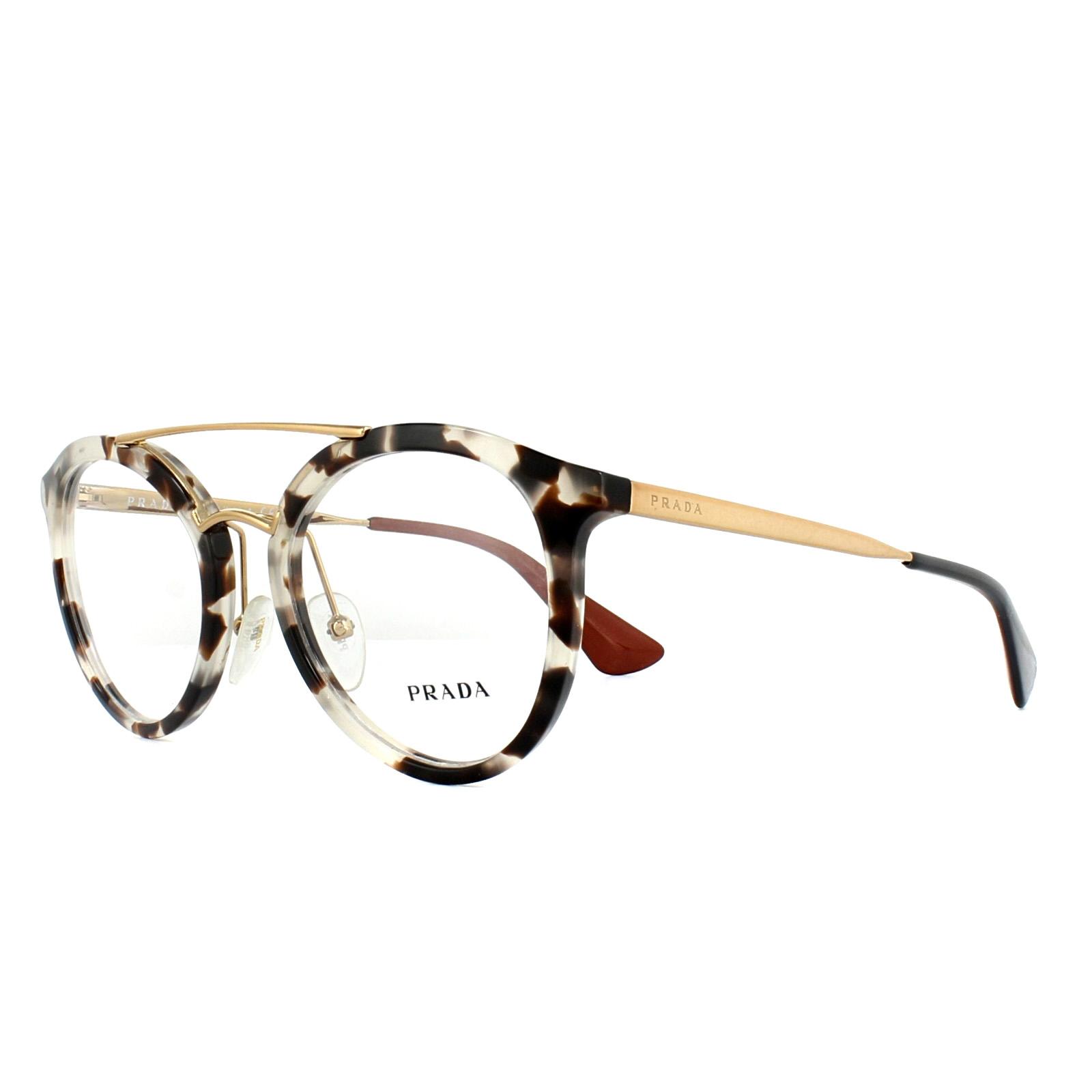 358a8fb8b2 Sentinel Prada Glasses Frames PR15TV UAO1O1 White Havana 50mm Womens