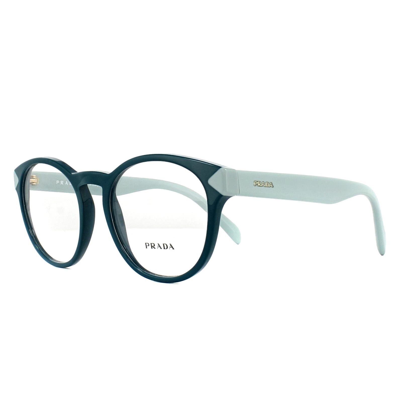 8616cdbaf59 Prada Glasses Frames PR16TV VIO1O1 Green 50mm Womens 8053672746174 ...
