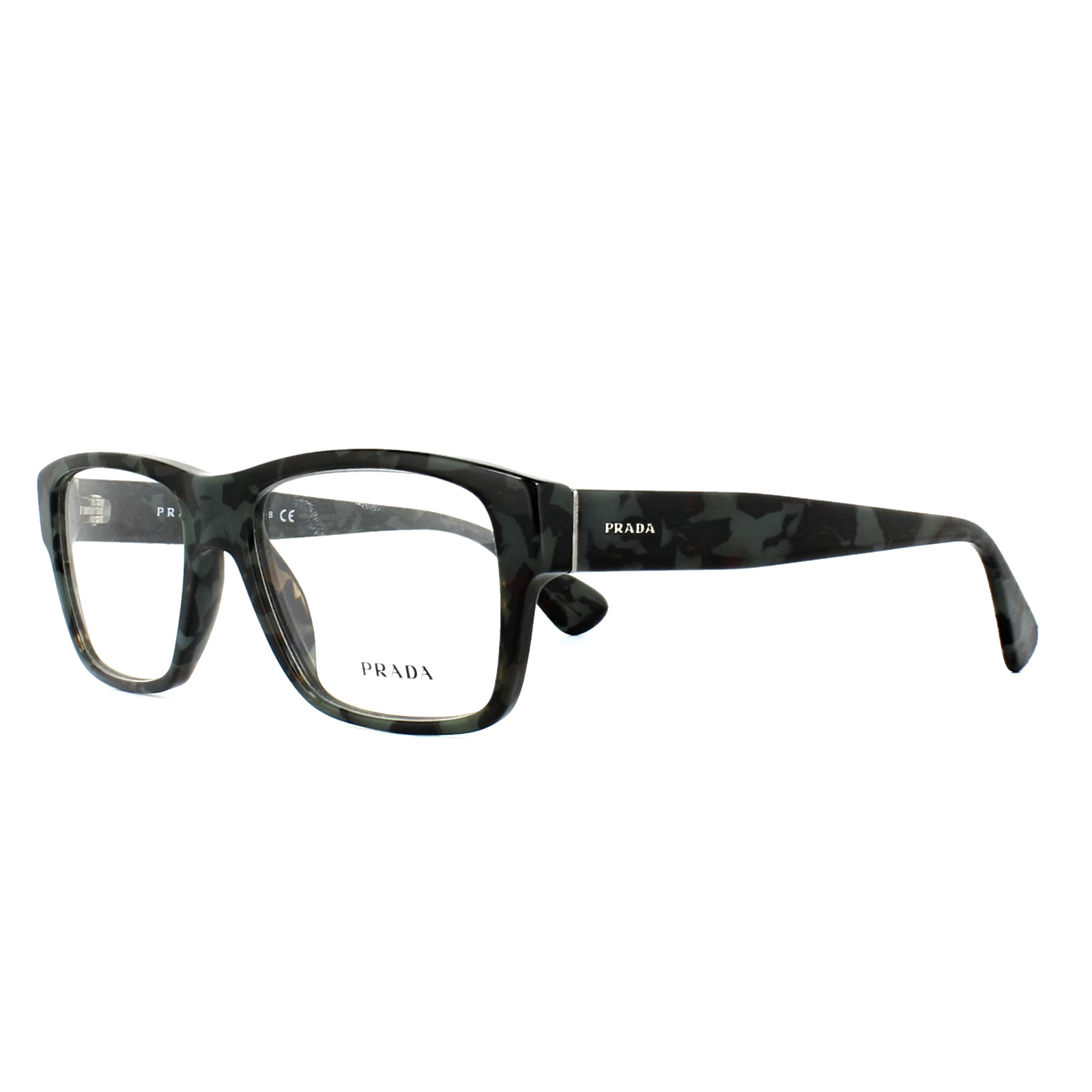 622bdbfcfbc Sentinel Prada Glasses Frames PR17SV UEM1O1 Spotted Brown Green 53mm Mens