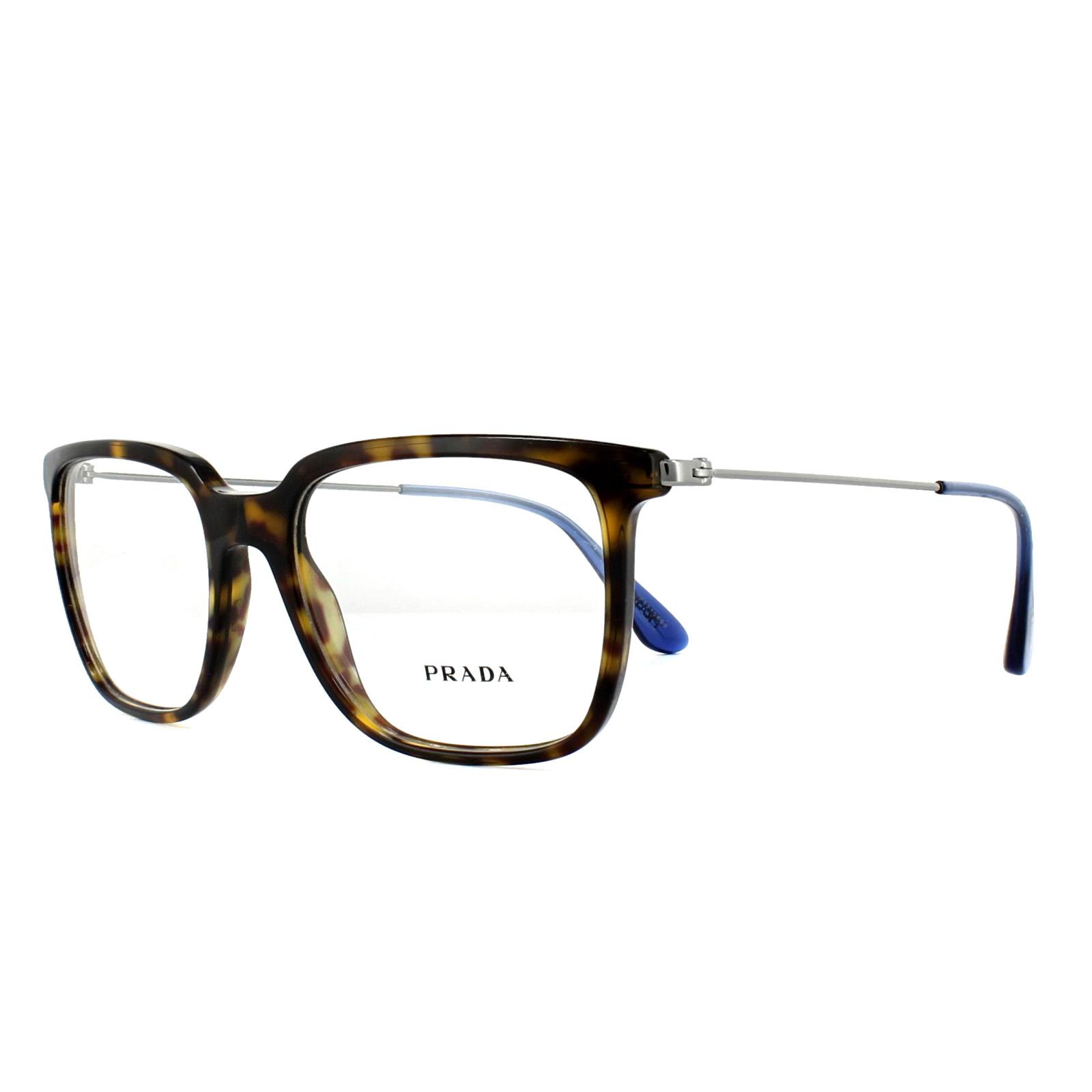 f057b7d8e9f Prada Glasses Frames PR17TV 2AU1O1 Havana 53mm Mens 8053672739640