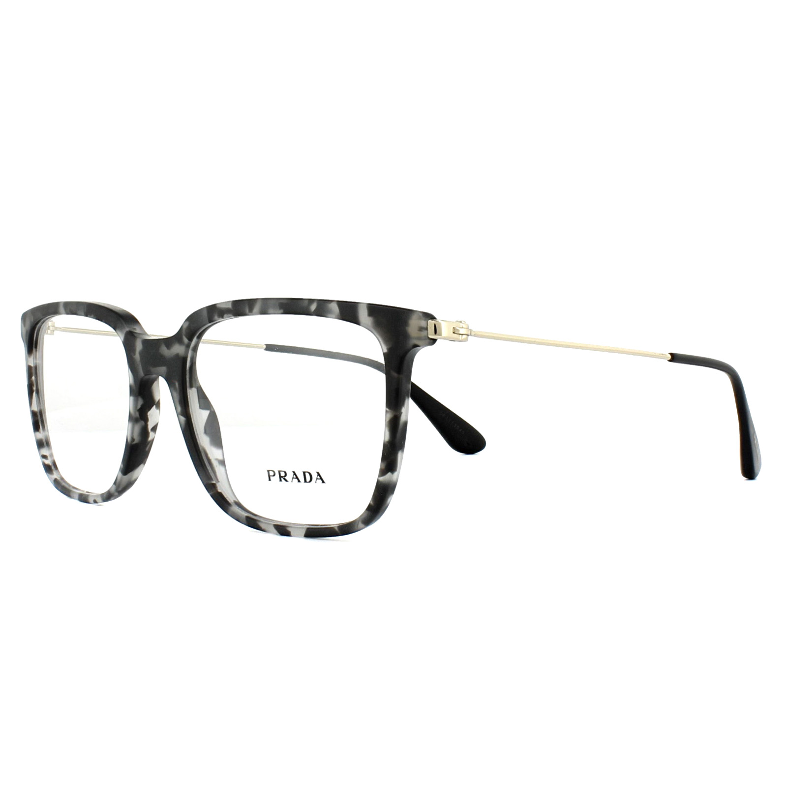 aa63d9b252b35 Sentinel Prada Glasses Frames PR17TV VH31O1 Matt Grey Havana 55mm Mens