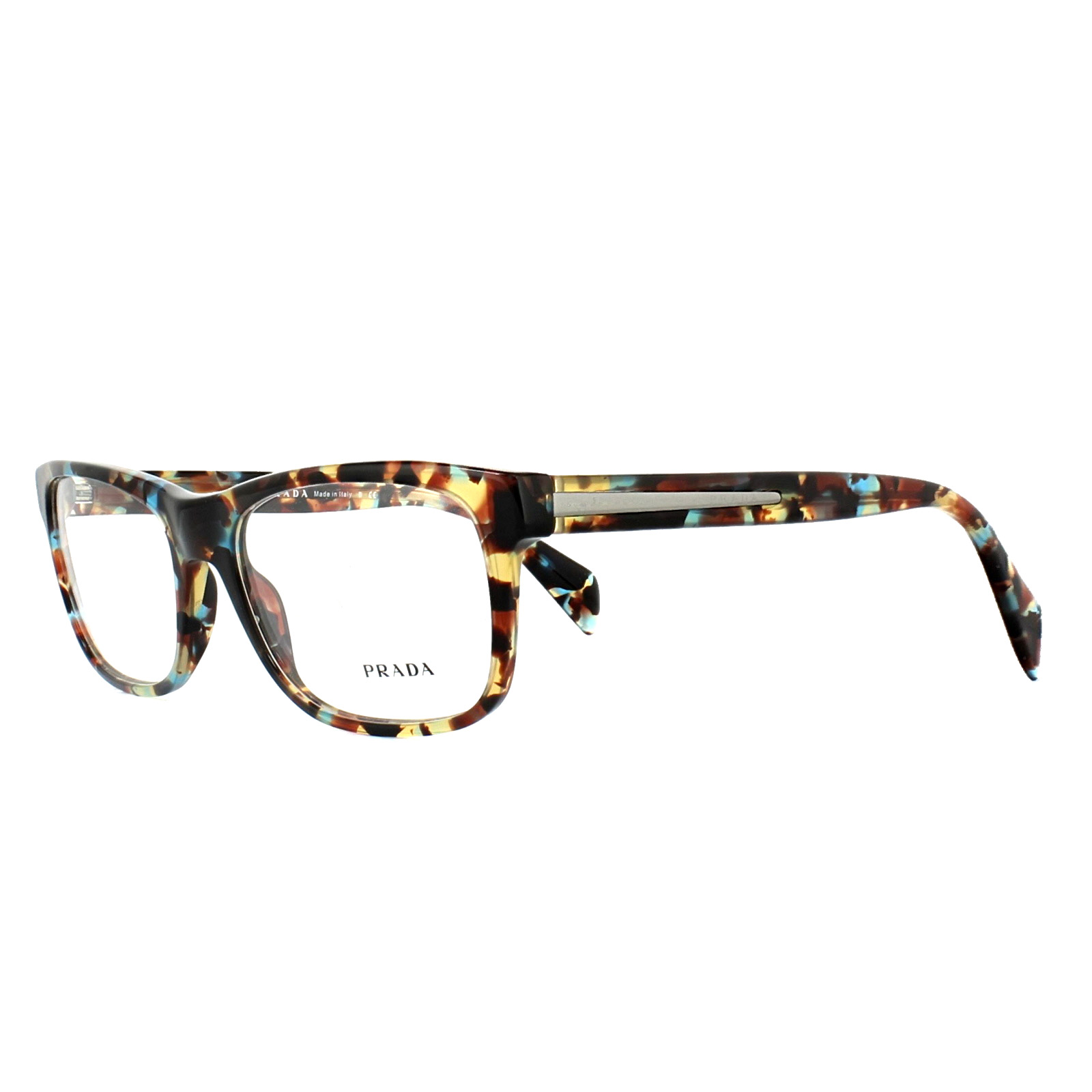 ca54f1765bc ... ebay sentinel prada glasses frames pr19pv nag1o1 spottted blue red  brown 55mm mens womens 8706e 2cc4a