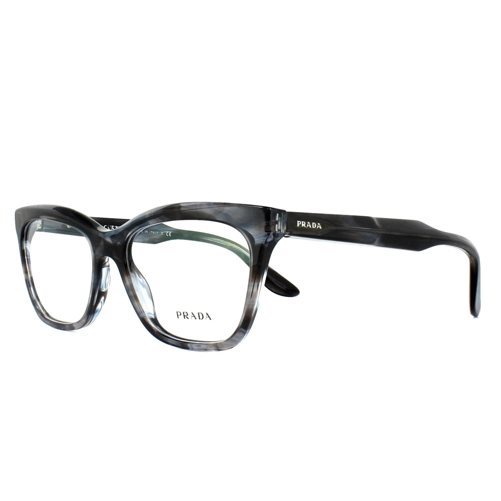 9b7616f0cf7f Sentinel Prada Glasses Frames PR24SV UEQ1O1 Striped Violet 53mm Womens
