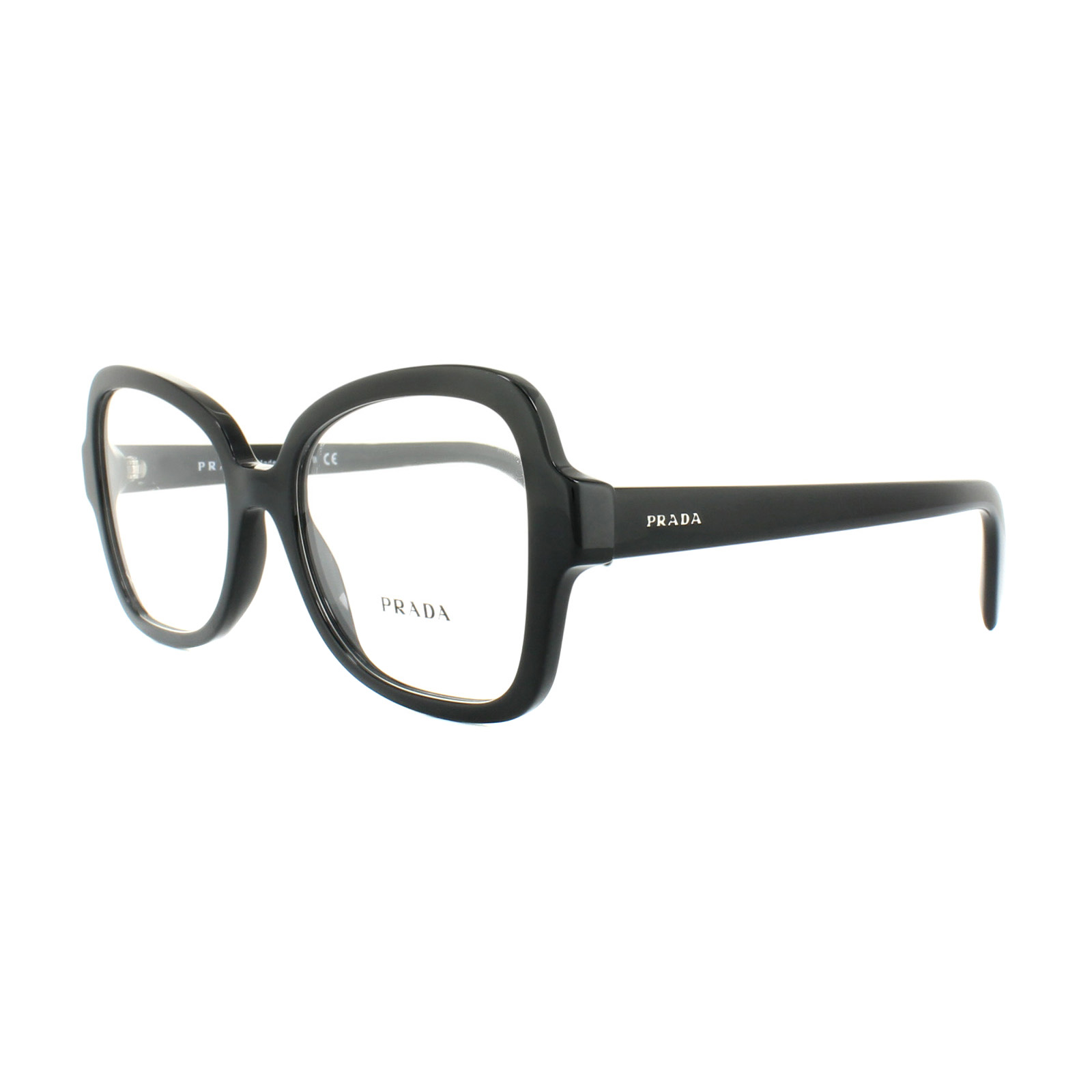 d564f538bdb Sentinel Prada Glasses Frames PR25SV 1AB1O1 Black 53mm Womens