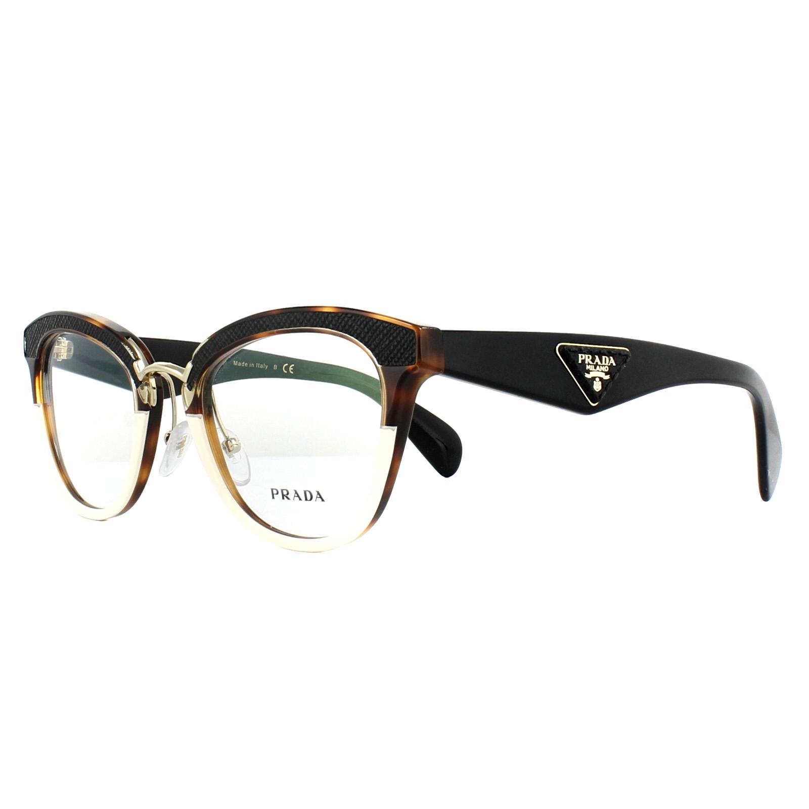 225812dda9 Details about Prada Glasses Frames PR26SV VHB1O1 Ivory Havana 51mm Womens