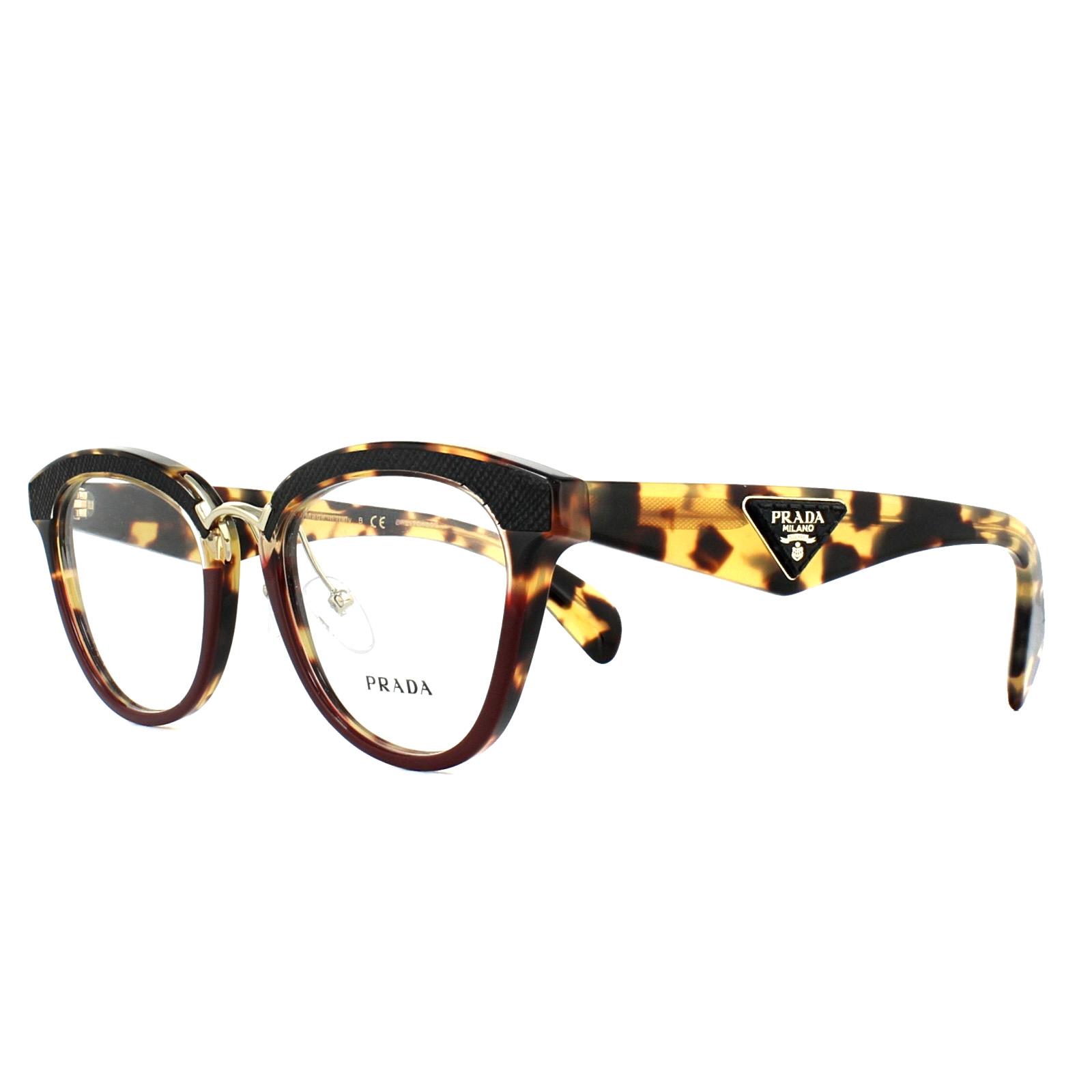 f2444269f0  600 RARE New PRADA ORNATE Havana Amaranth Eyeglasses Frame PR 26SV VHC-1O1
