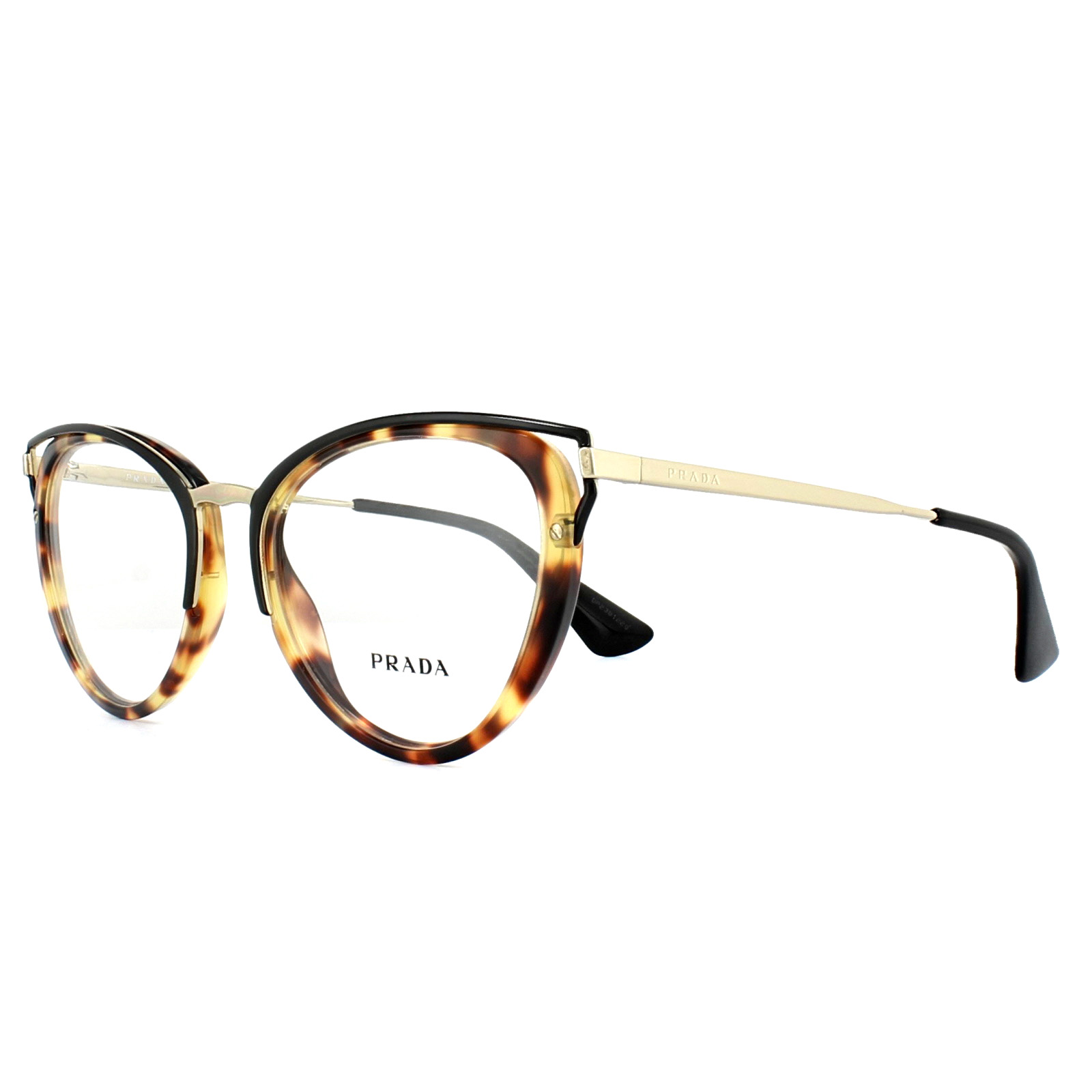 0bdd4cfac2d Sentinel Prada Glasses Frames PR53UV 7S01O1 Medium Havana 50mm Womens