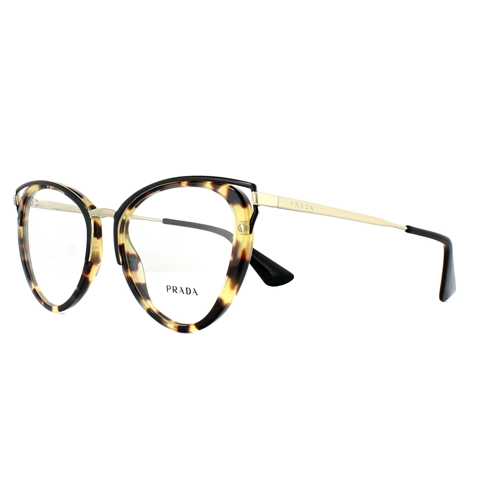 f098ca6d73 Sentinel Prada Glasses Frames PR53UV 7S01O1 Medium Havana 52mm Womens