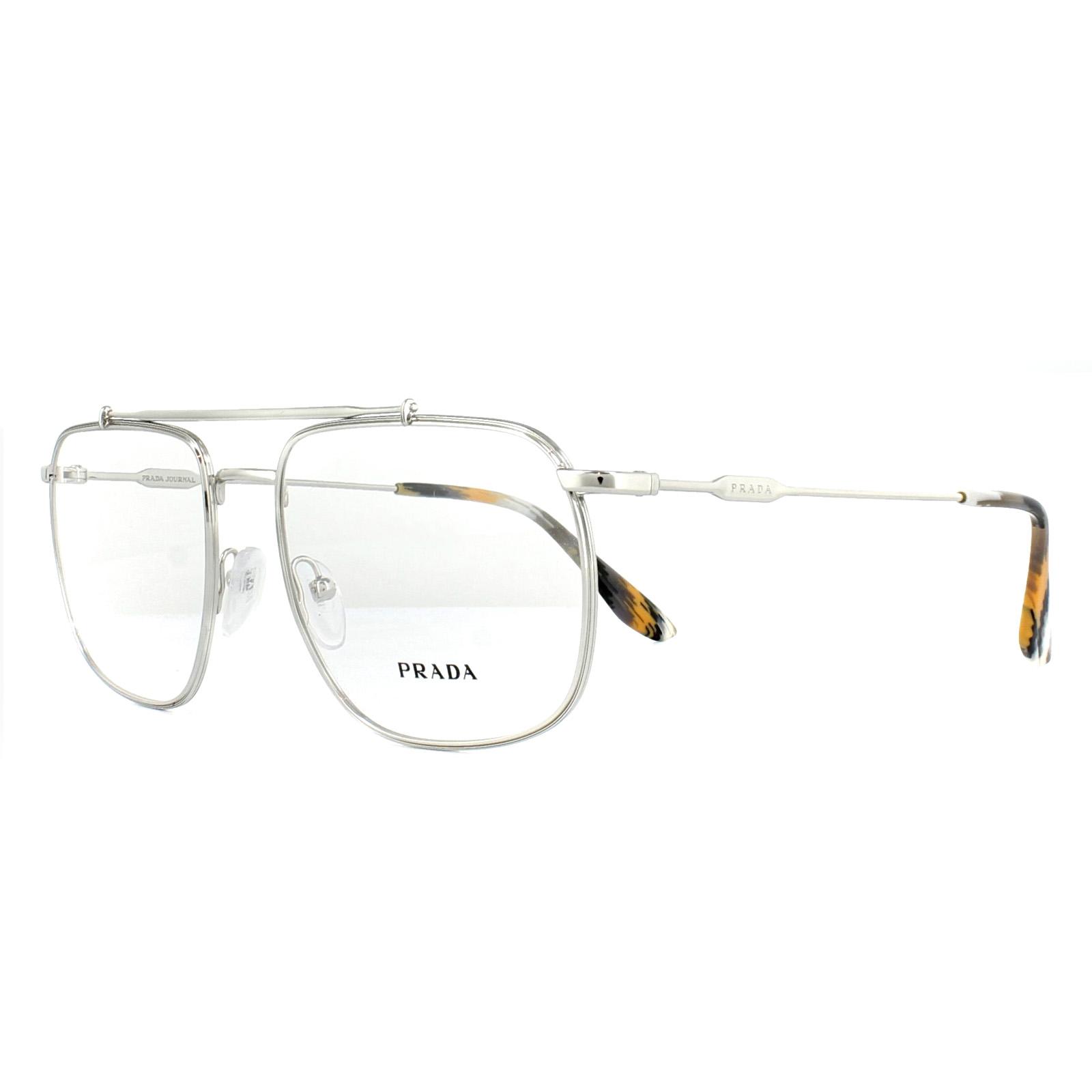 ebcbd15857b Prada Glasses Frames PR56UV 1BC1O1 Silver 55mm Womens 8053672782189 ...