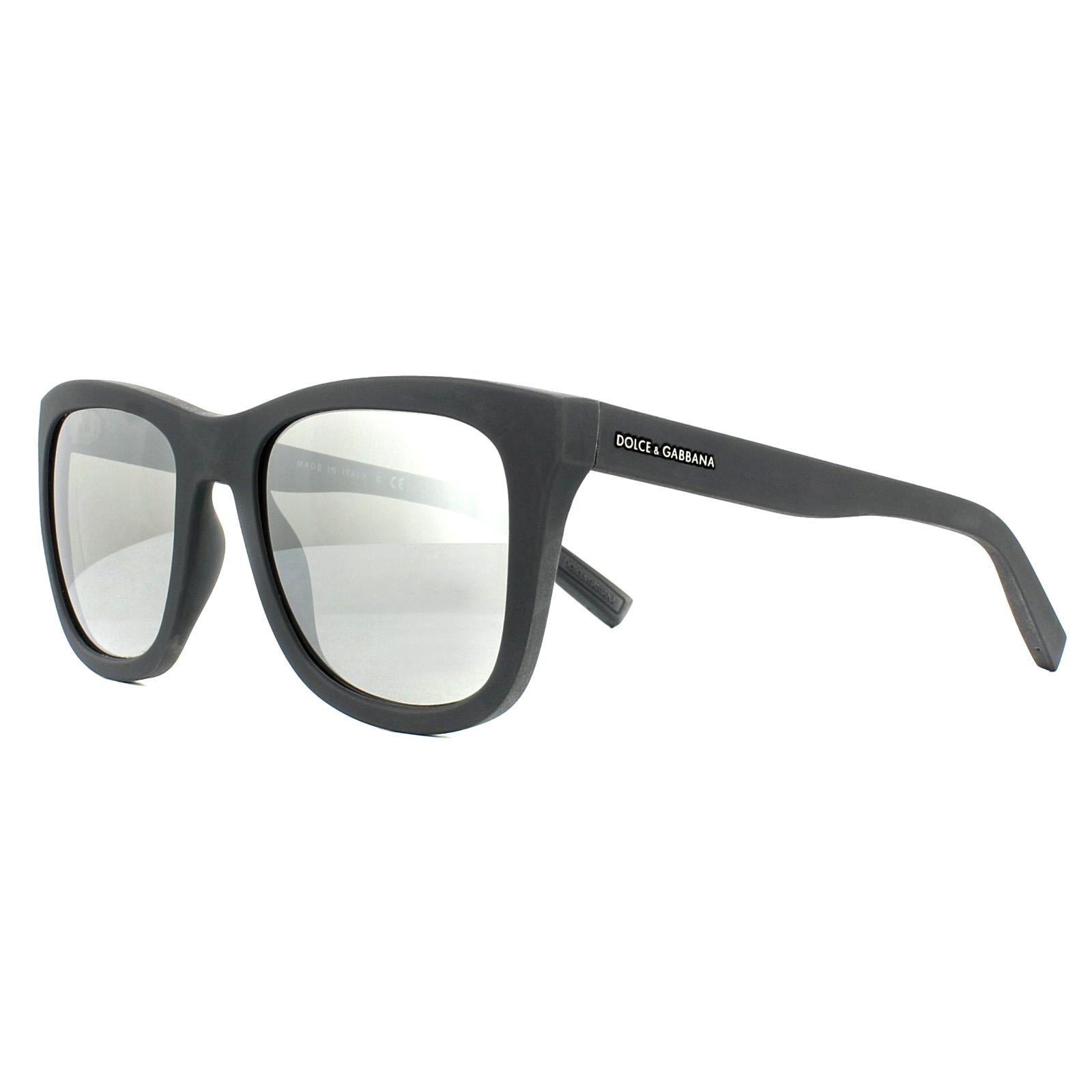 853d6c20f1ff Sentinel Dolce   Gabbana Sunglasses 2145 12676G Grey Rubber Light Grey  Silver Mirror