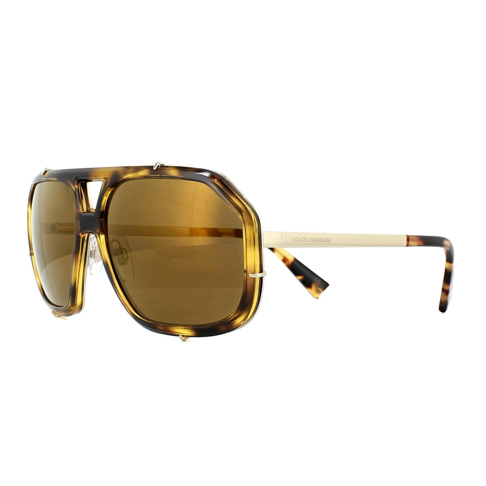 5cd108fa689d2 Sentinel Dolce   Gabbana Sunglasses 2167 488-F9 Cube Havana Brown Mirror  Bronze
