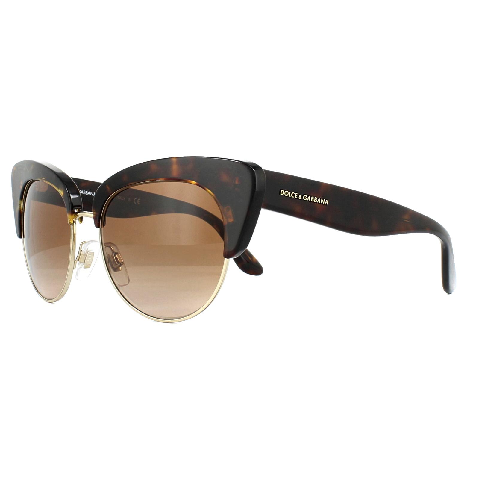e3fc6434fcc3 Sentinel Dolce   Gabbana Sunglasses 4277 502-13 Havana and Gold Brown  Gradient