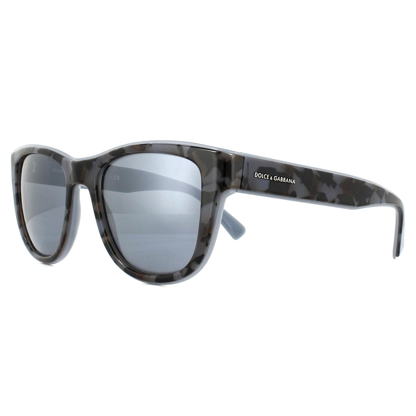 7a39354dafec7 Sentinel Dolce   Gabbana Sunglasses 4284 3072Y6 Camo Grey on Grey Matt Grey  Silver Mirror