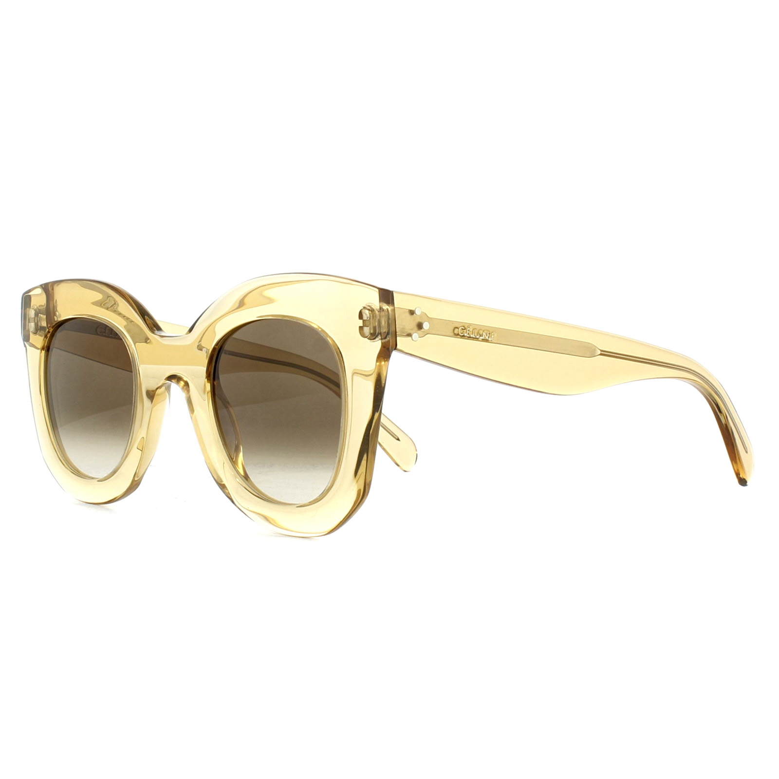 87380ab478 Sentinel Celine Sunglasses 41393 S Baby Marta HAM X9 Clear Champagne Brown  Gradient