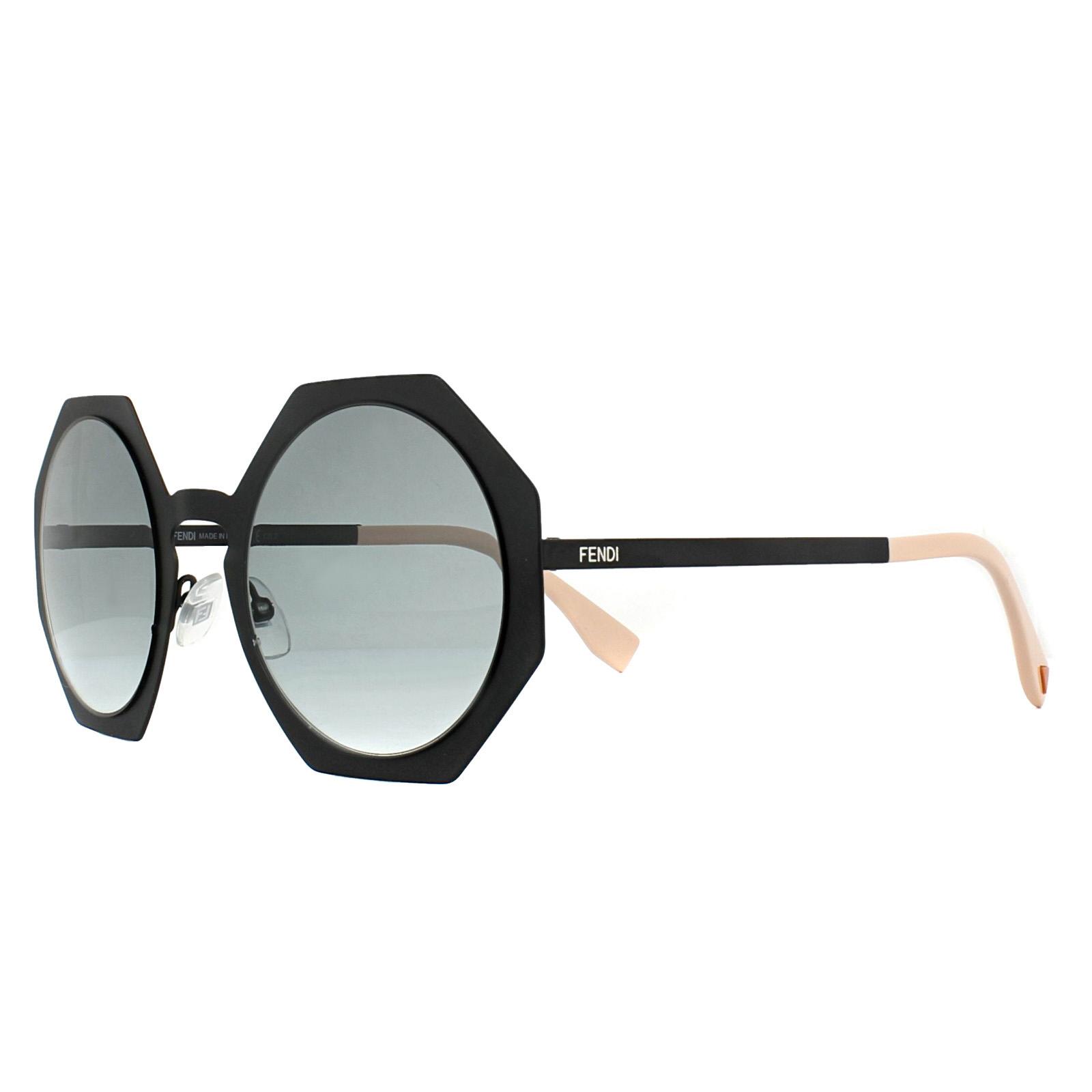 cff77eac3f26 Sentinel Fendi Sunglasses Facets FF 0152/S 003 JJ Matt Black Grey Gradient