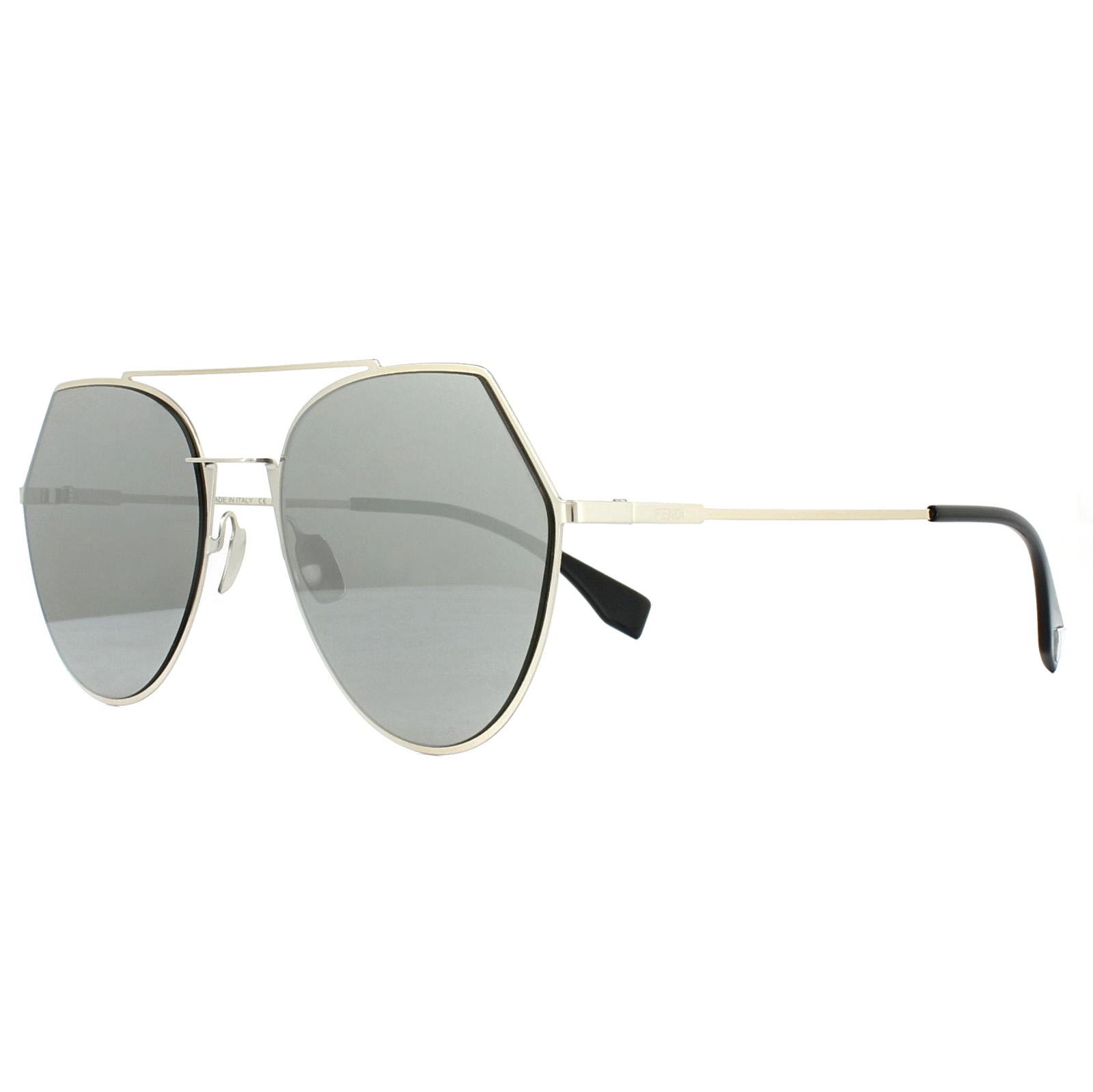 9320178f2a049 Sentinel Fendi Sunglasses Eyeline FF 0194 S 3YG 0T Light Gold Grey Silver