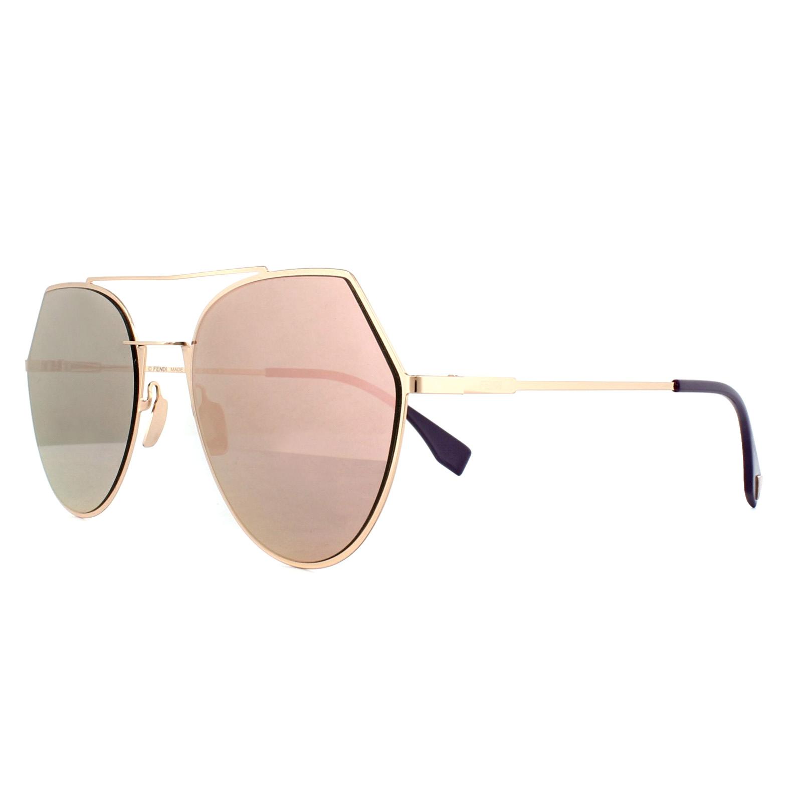 5631fcf27aeff Sentinel Fendi Sunglasses Eyeline FF 0194 S DDB AP Gold Copper Silver