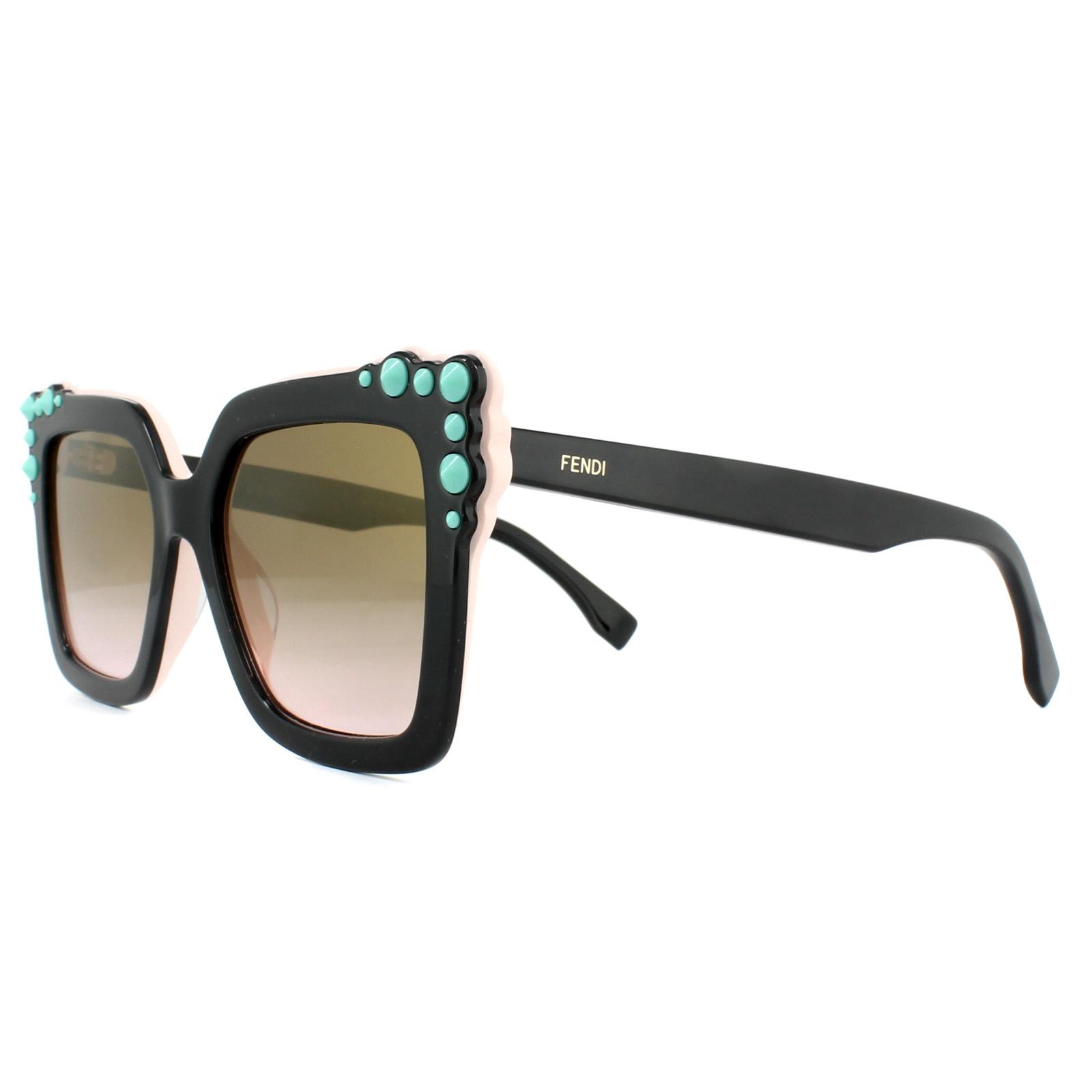 5e54abd4875b Sentinel Fendi Sunglasses Can Eye FF 0260/S 3H2 53 Black Pink Brown  Gradient Pink