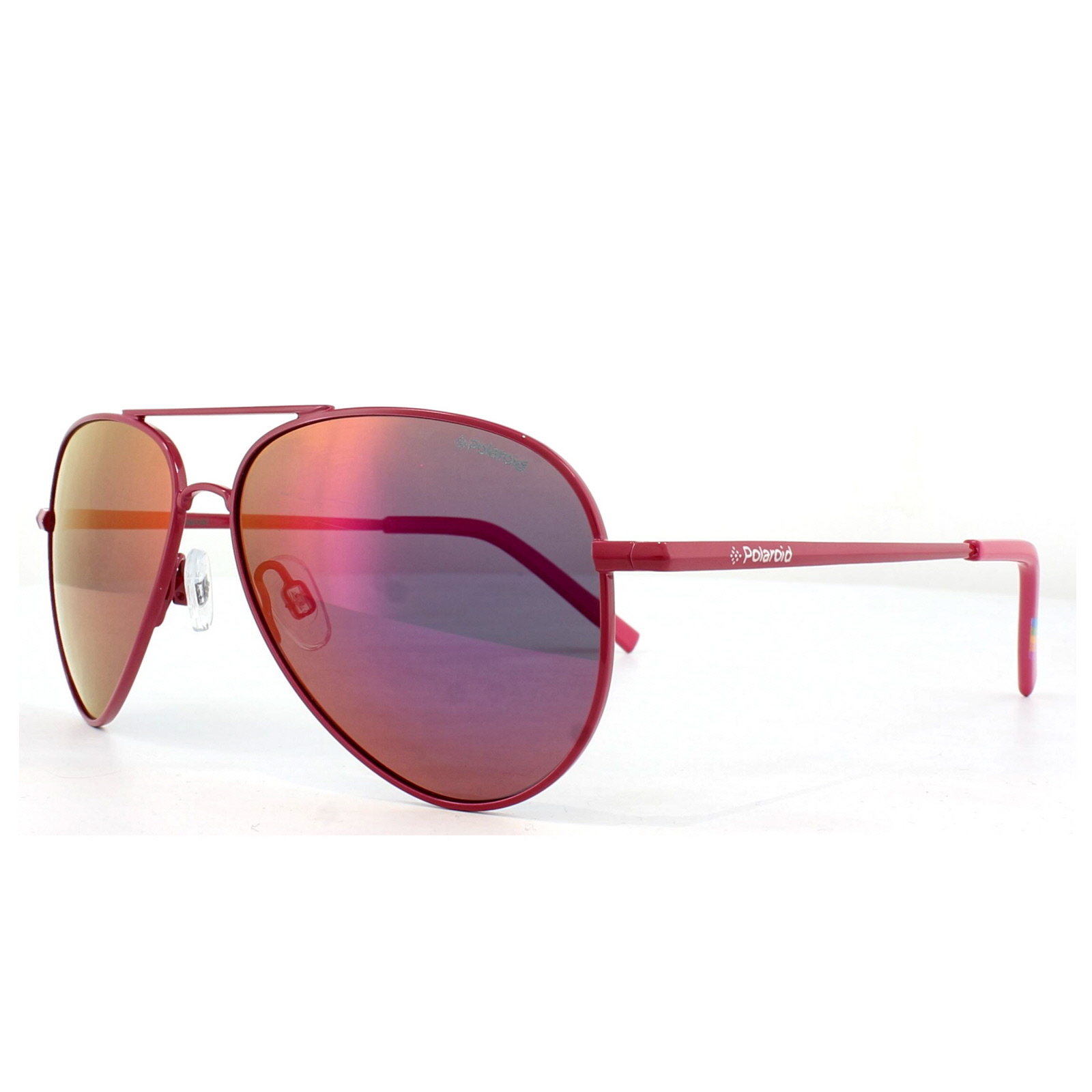 7991db7985563 Sentinel Polaroid Kids Sunglasses PLD 8015 N TDS AI Pink Grey Pink Mirror  Polarized