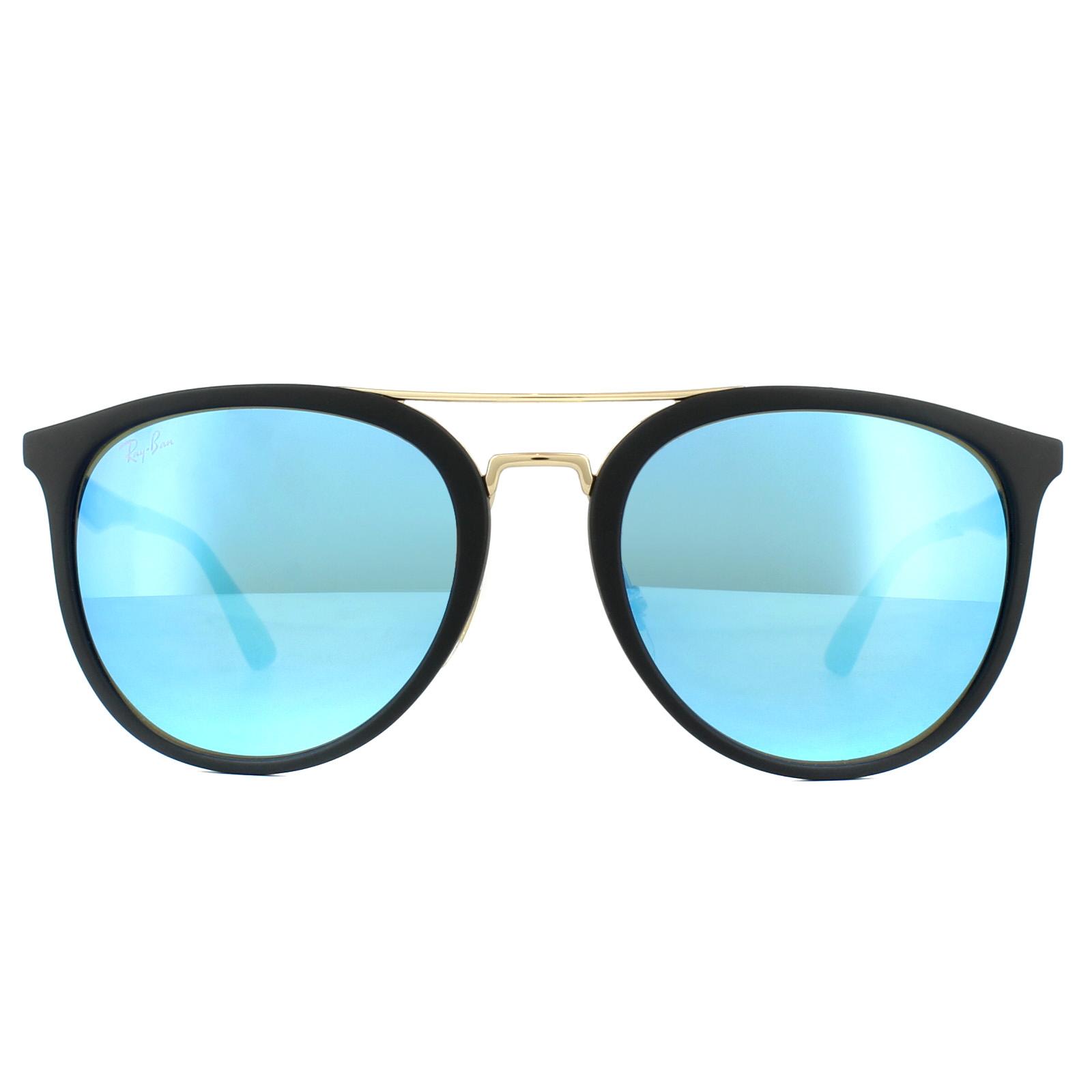 94bd25b6d7 Ray-Ban Occhiali da Sole Rb4285 601s55 Nero Blu a Specchio