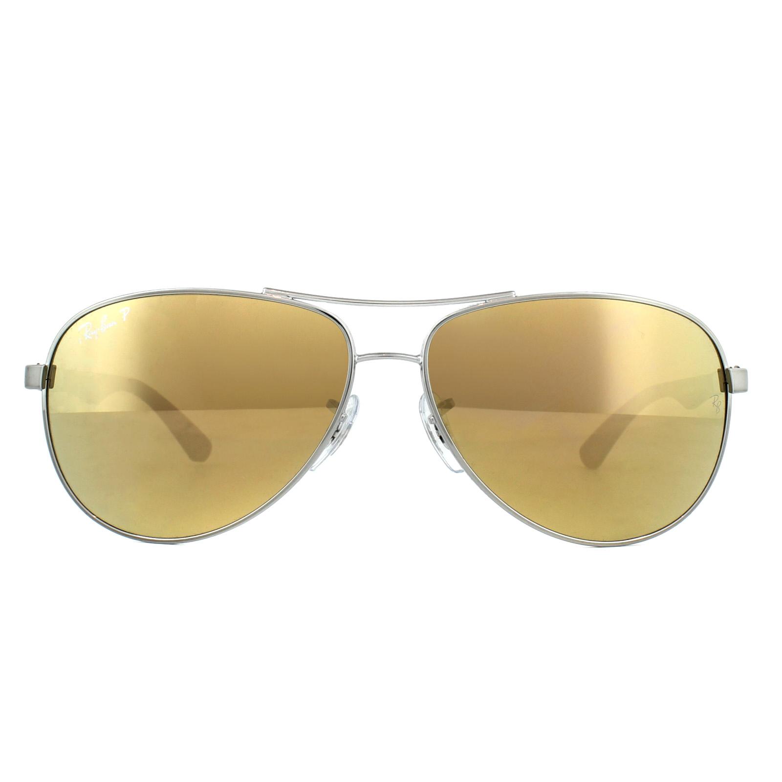 2630f634c8 Sentinel Ray-Ban Sunglasses 8313 004 N3 Gunmetal Polarized Gold Mirror