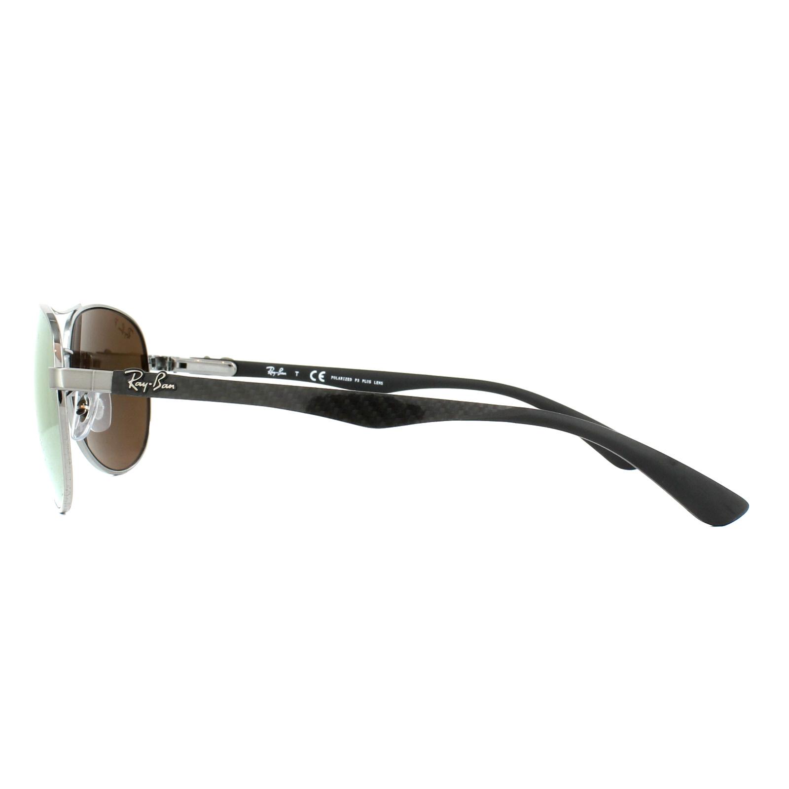 fa1eec9af78 Sentinel Ray-Ban Sunglasses 8313 004 N3 Gunmetal Polarized Gold Mirror