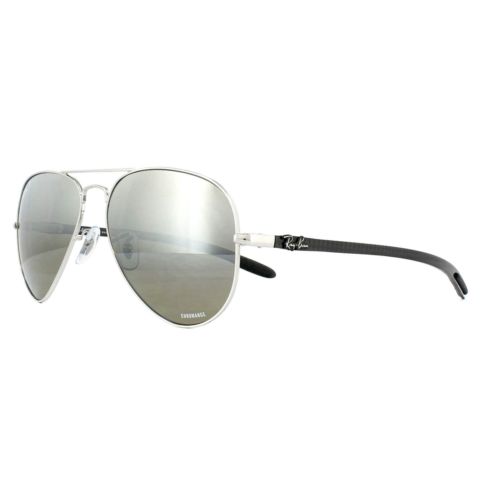 3102158712 Sentinel Ray-Ban Sunglasses RB8317CH 003 5J Silver Silver Mirror Polarized  Chromance