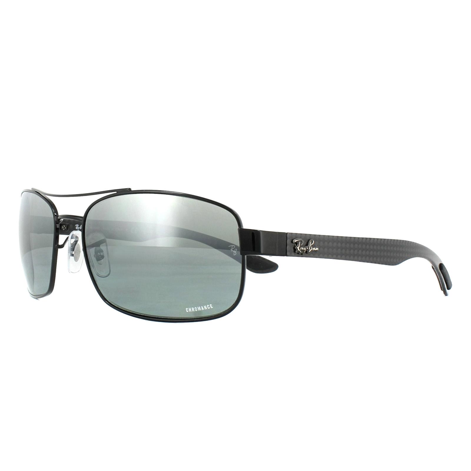 5f8b025a0f Sentinel Ray-Ban Sunglasses RB8318CH 002 5L Black Grey Mirror Polarized  Chromance