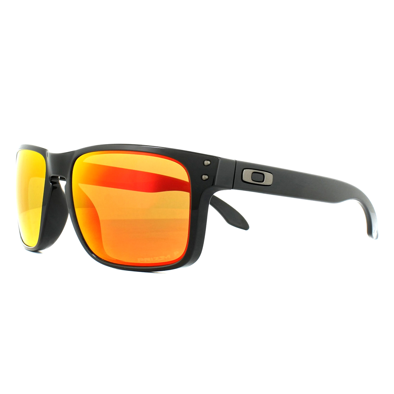 7f1001b62f Sentinel Oakley Sunglasses Holbrook OO9102-F1 Polished Black Prizm Ruby  Polarized