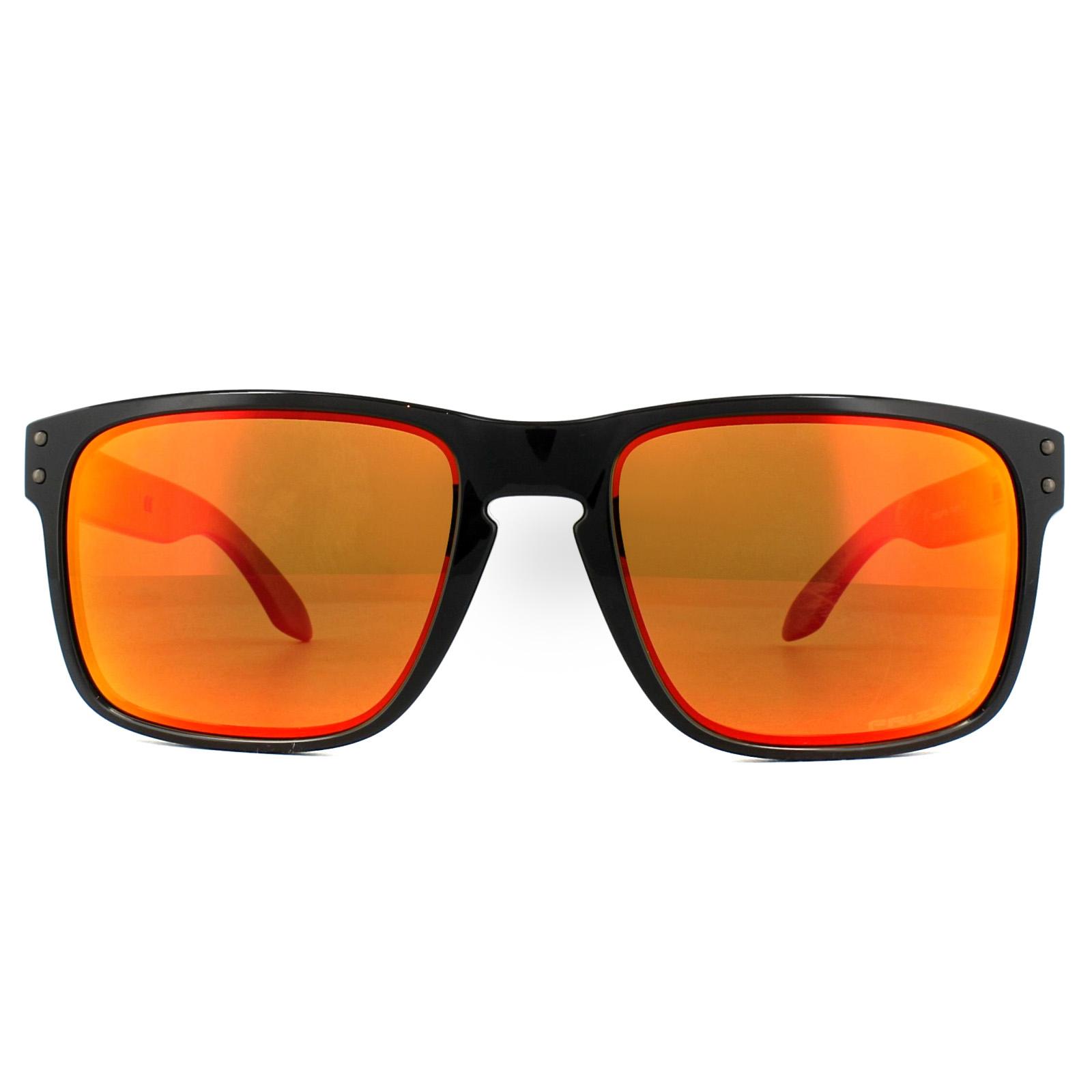 9b63c9dc5f Sentinel Oakley Sunglasses Holbrook OO9102-F1 Polished Black Prizm Ruby  Polarized