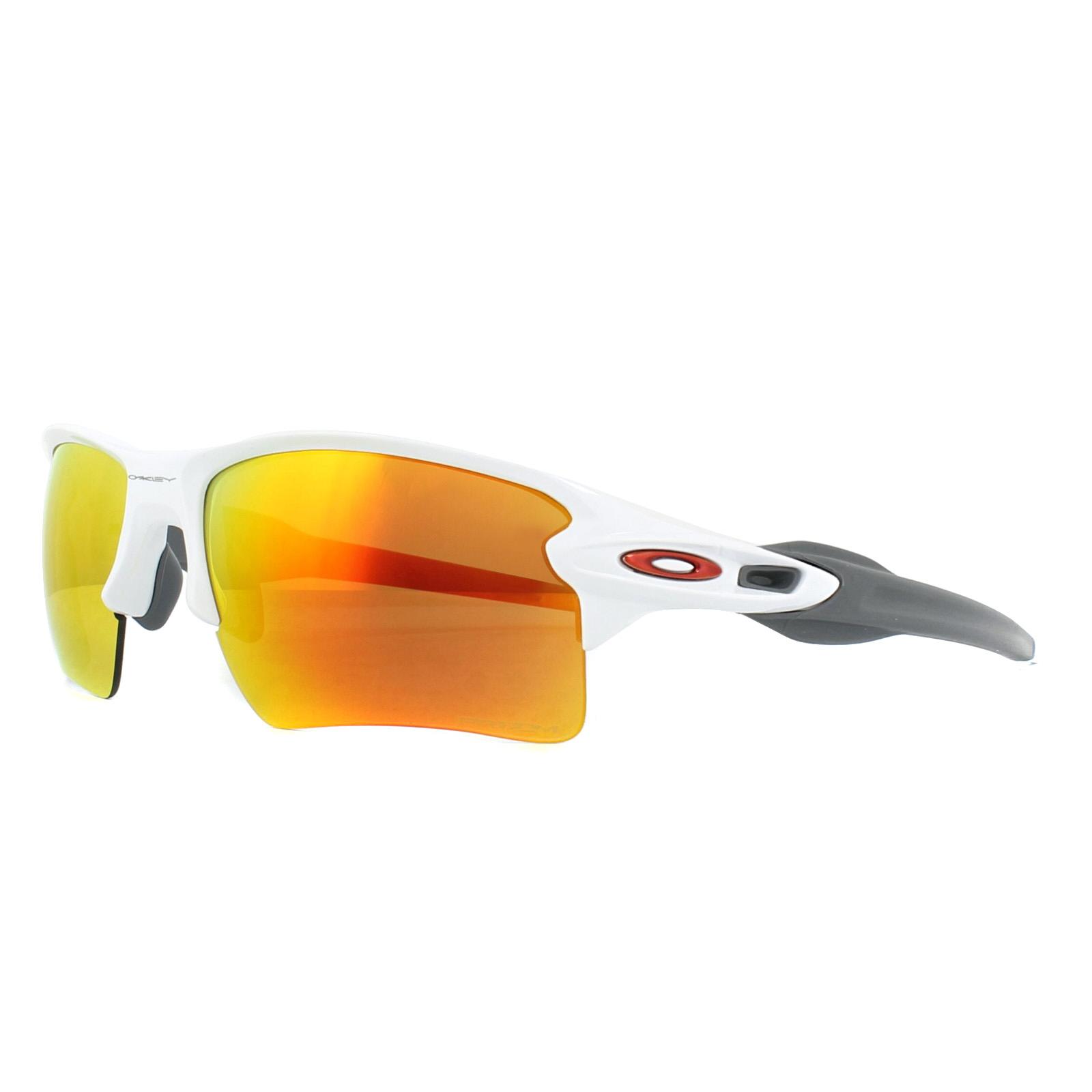 2f0497332e7 Sentinel Oakley Sunglasses Flak 2.0 XL OO9188-93 Polished White Prizm Ruby