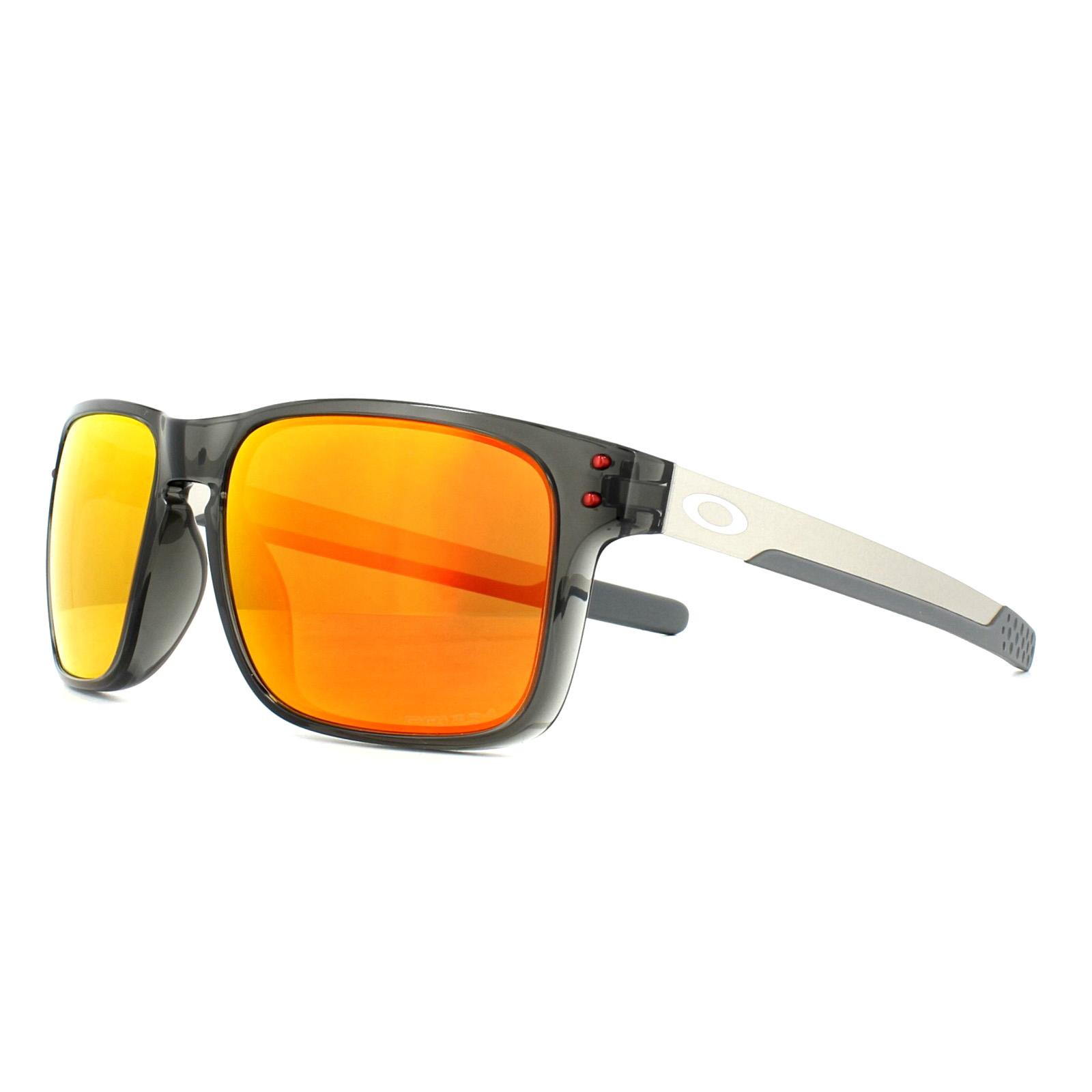 64fa251052 Sentinel Oakley Sunglasses Holbrook Mix OO9384-07 Grey Smoke Prizm Ruby  Polarized