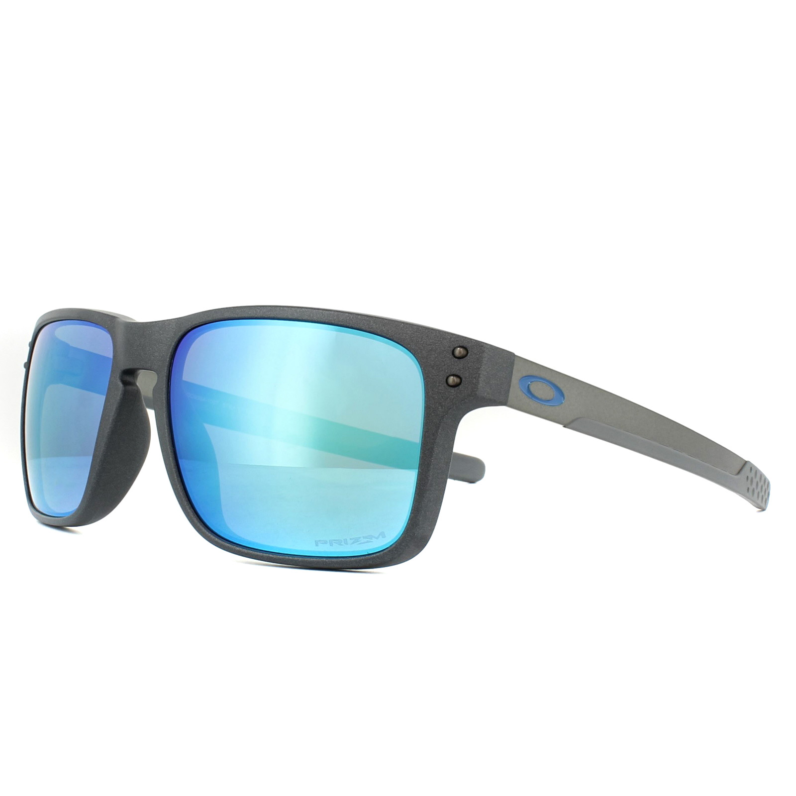 128f8074b Sentinel Oakley Sunglasses Holbrook Mix OO9384-10 Steel Prizm Sapphire  Polarized