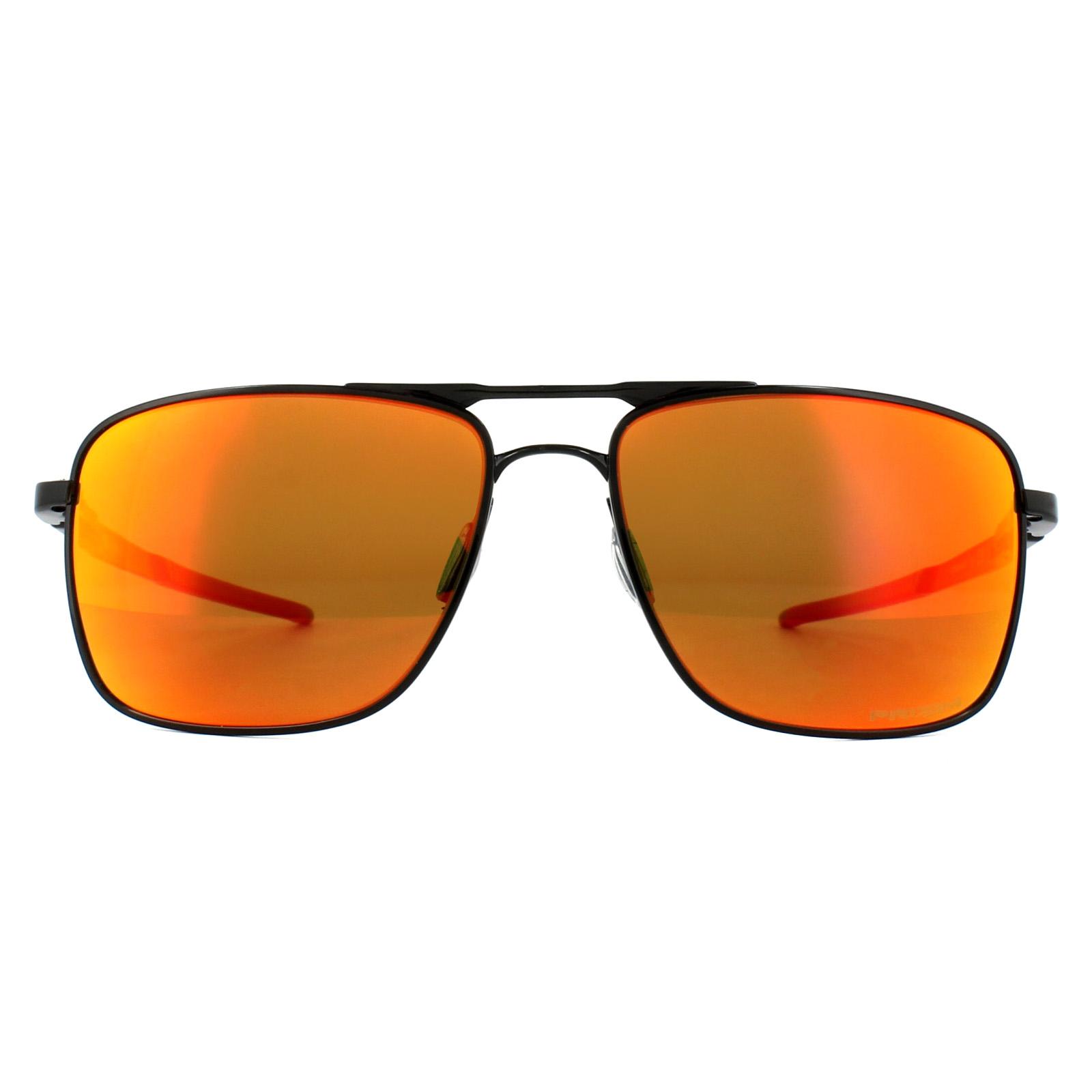 dc8c66a87c Sentinel Oakley Sunglasses Gauge 6 OO6038-04 Polished Black Prizm Ruby  Polarized