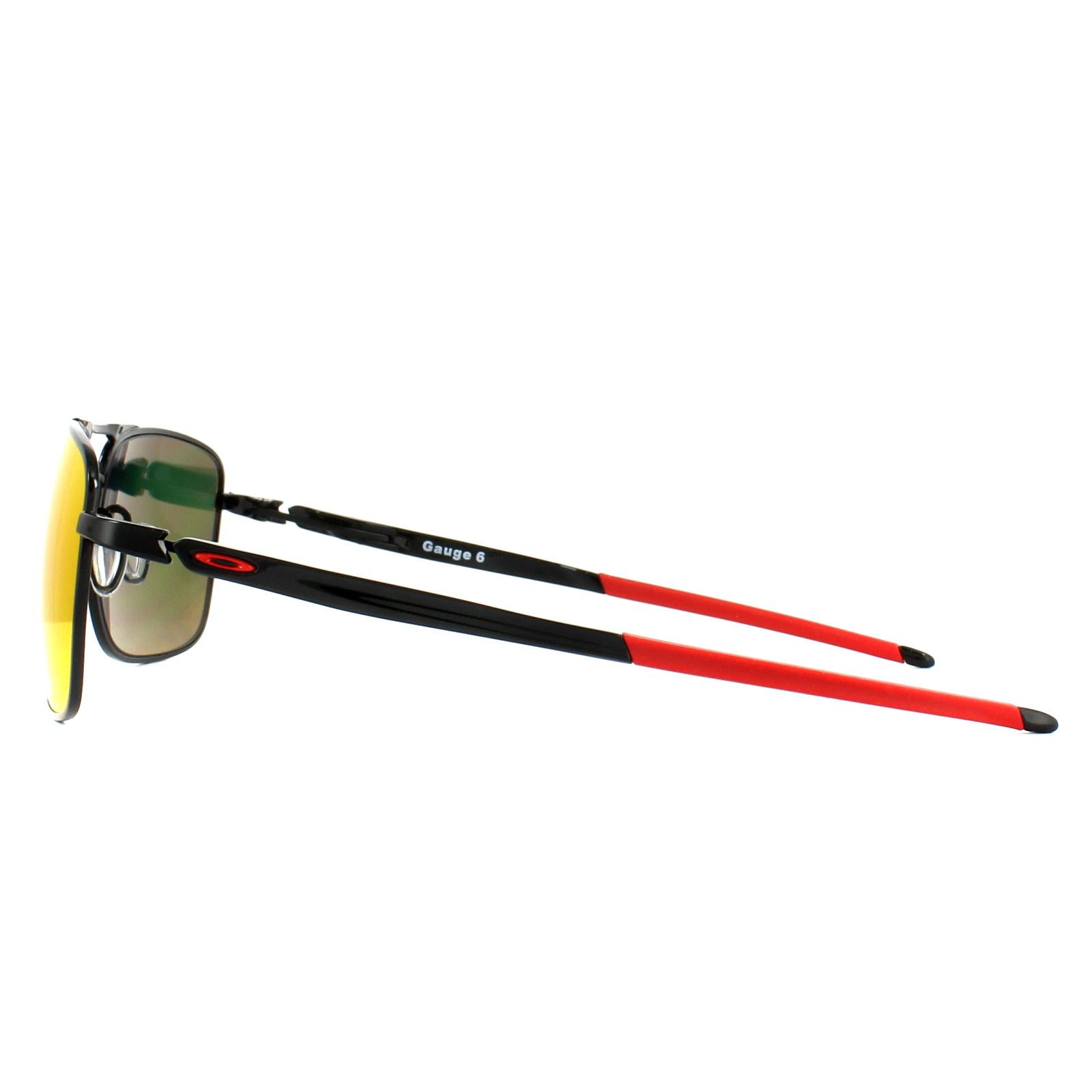 7b61aedb03c Sentinel Oakley Sunglasses Gauge 6 OO6038-04 Polished Black Prizm Ruby  Polarized