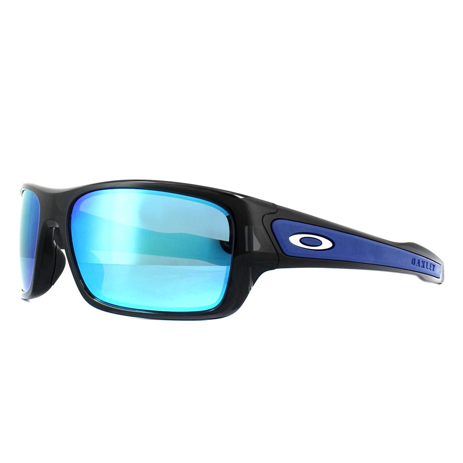 36fcdde3fa2b Sentinel Oakley Sunglasses Turbine XS Youth Fit OJ9003-03 Black Ink  Sapphire Iridium