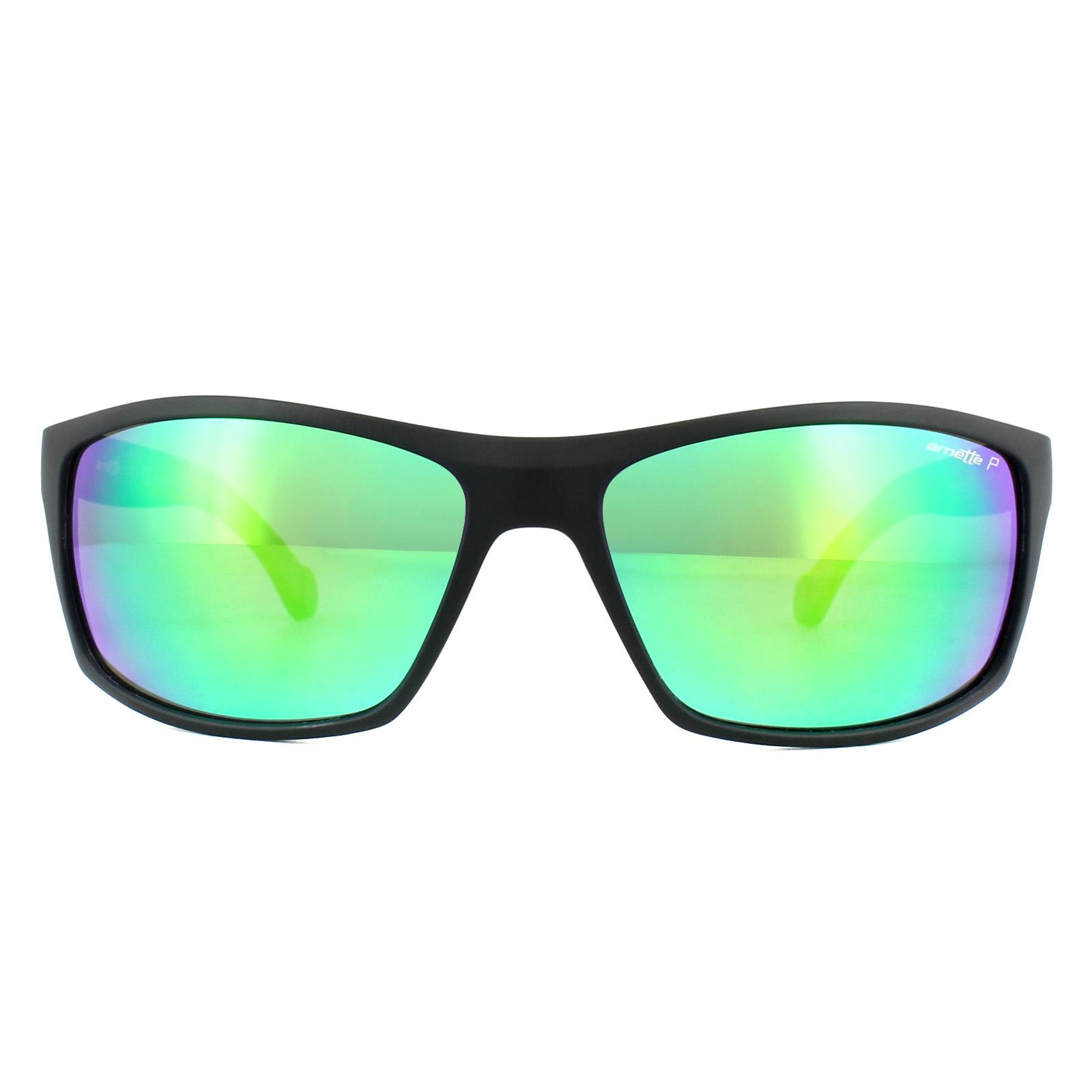 04a4970416 Sentinel Arnette Sunglasses 4207 Boiler 01 1L Matt Black Grey Mirror Green  Polarized