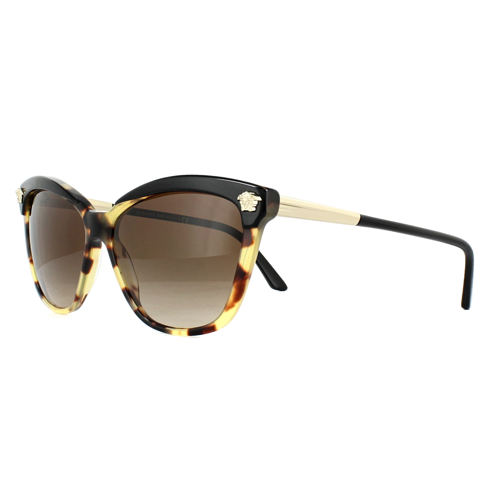 e268b6436cb Sentinel Versace Sunglasses VE4313 517713 Black Havana Brown Gradient