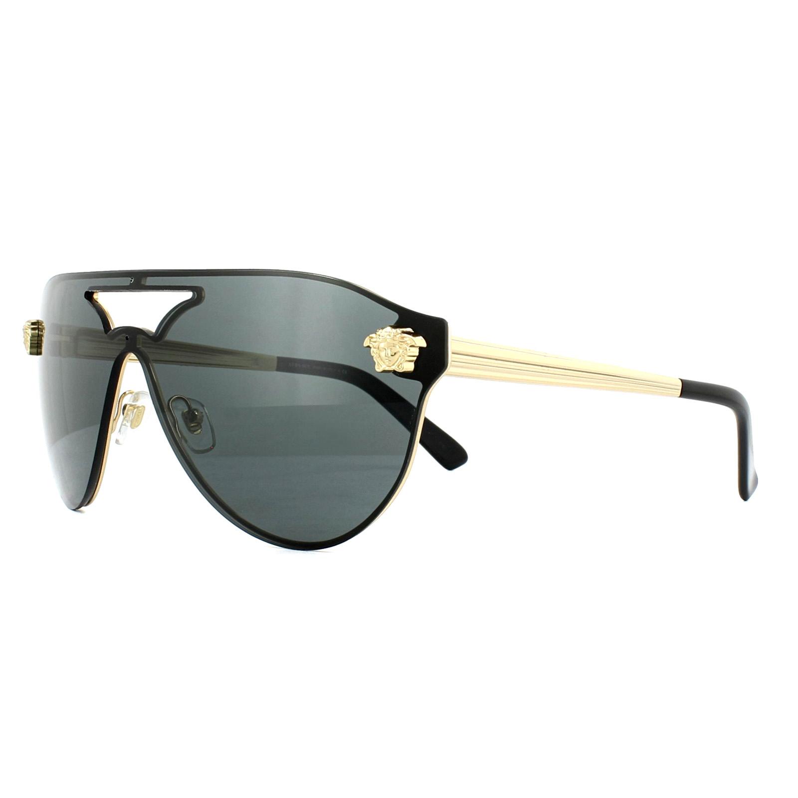 3b1029aad1aa7 Sentinel Versace Sunglasses VE2161 100287 Gold Black Grey
