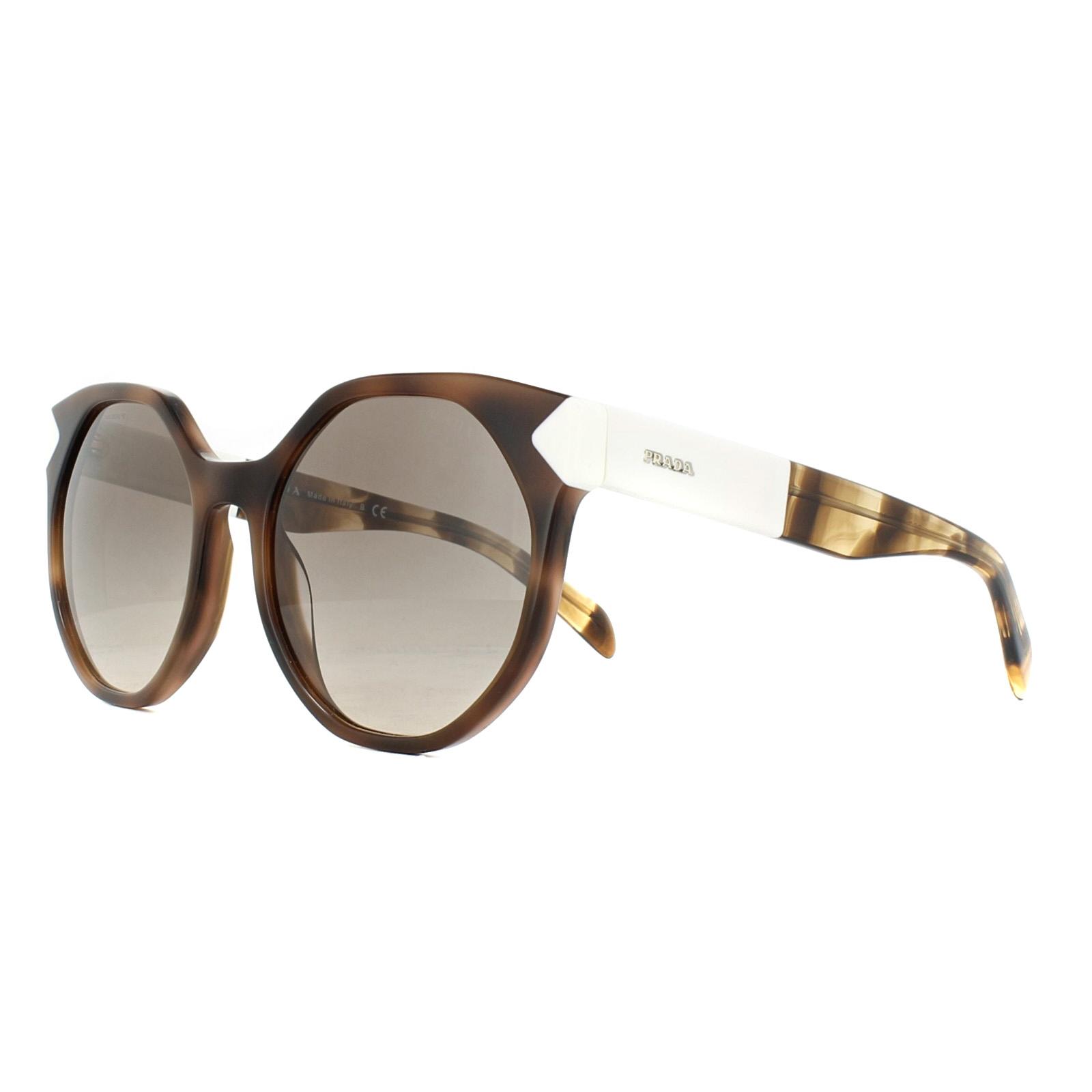 541f24fc2701 Details about Prada Sunglasses PR11TS USG3D0 Striped Dark Brown Light Brown  Gradient Grey