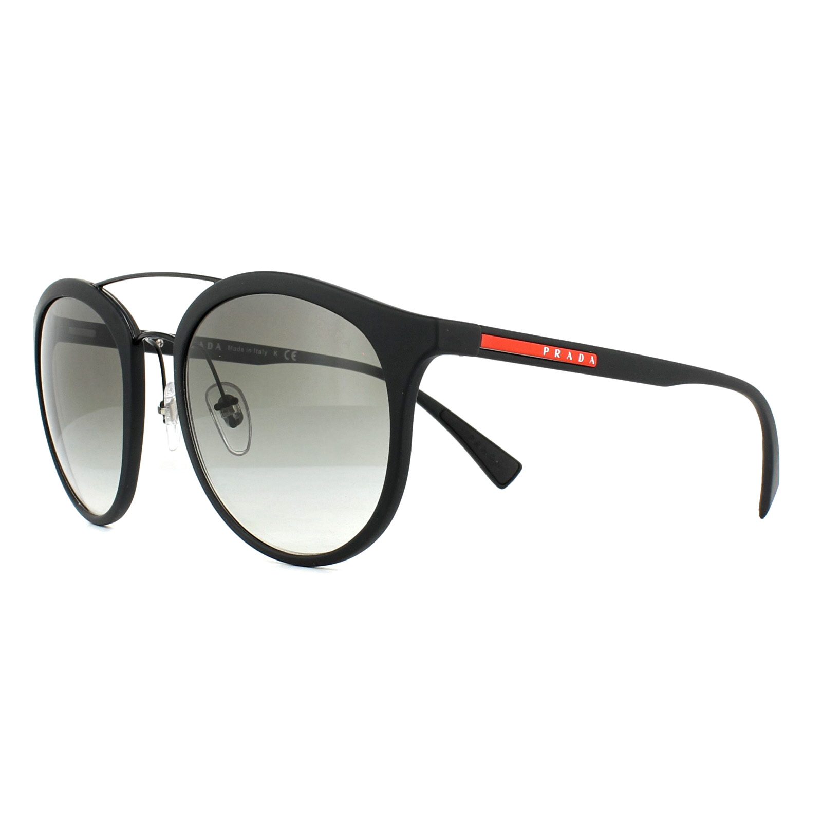 da8fb8e736b2 Sentinel Prada Sport Sunglasses PS04RS DG00A7 Black Rubber Grey Gradient.  Sentinel Thumbnail 2