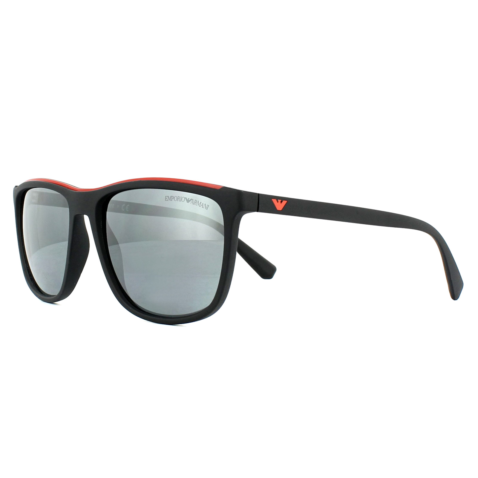 fbe72657d3f3 Sentinel Emporio Armani Sunglasses EA4109 50426G Matt Black Light Grey  Mirror Black