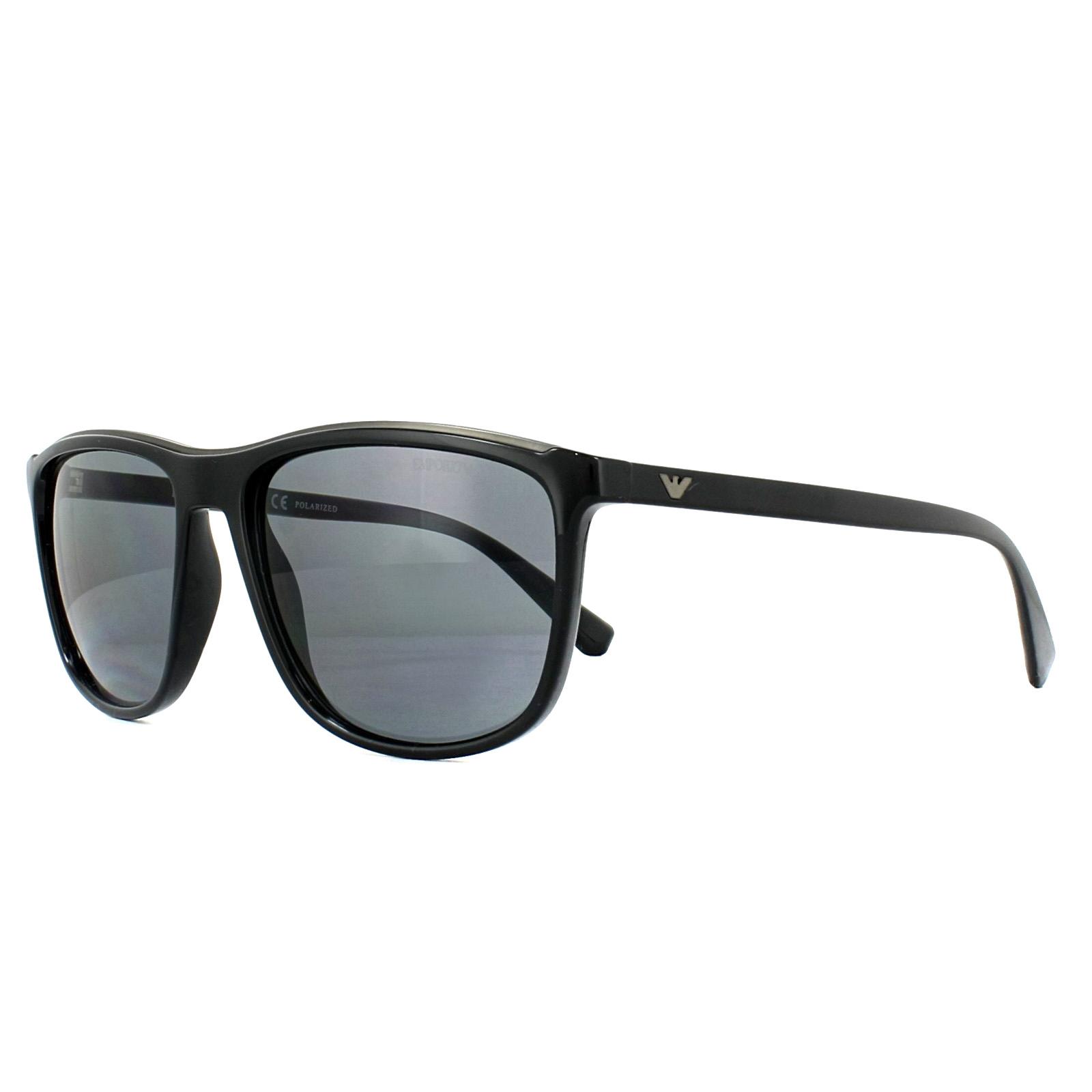 18a72f4bc5d Sentinel Emporio Armani Sunglasses EA4109 501781 Black Grey Polarized