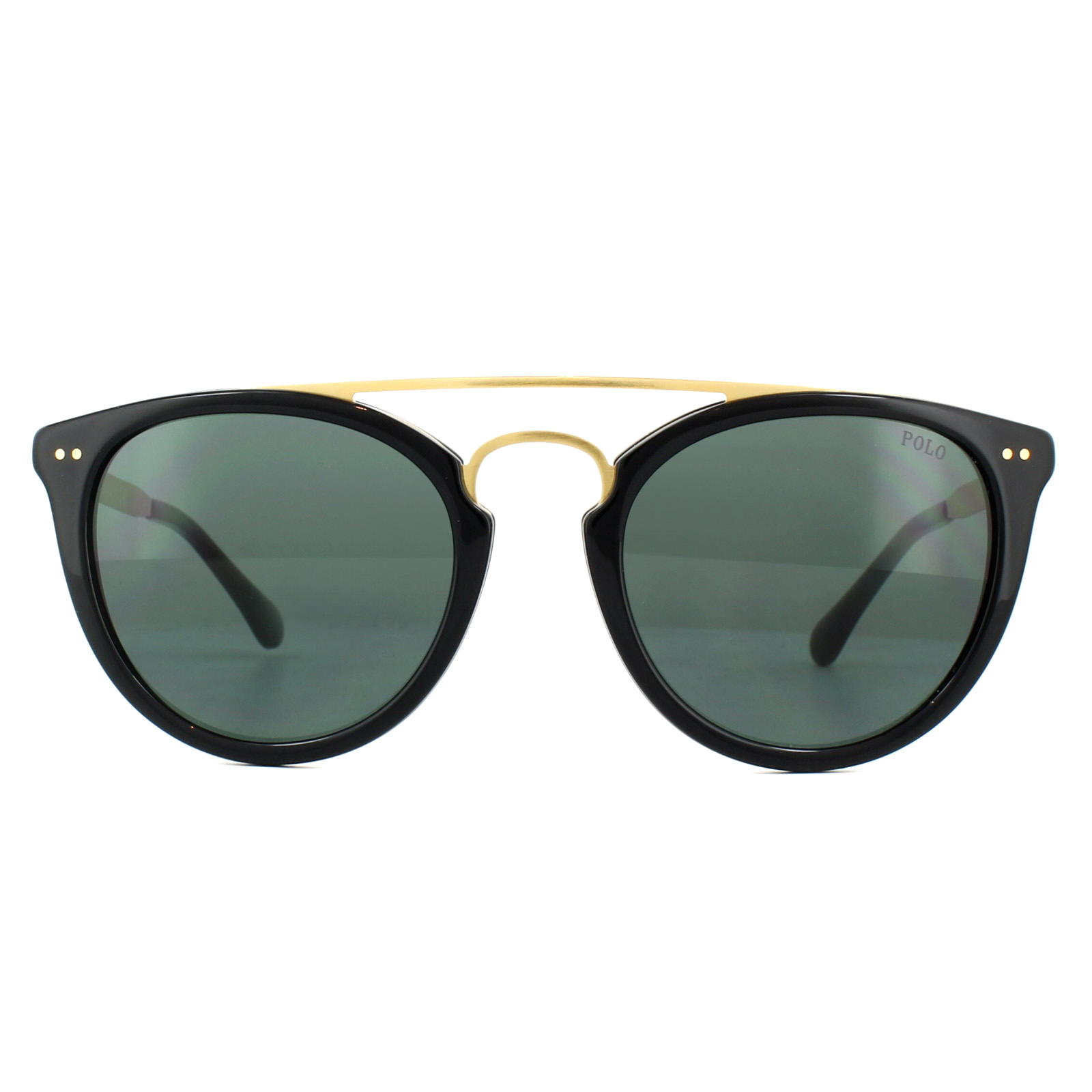 91ced80801ac1 Sentinel Polo Ralph Lauren Sunglasses PH4121 500171 Shiny Black Green