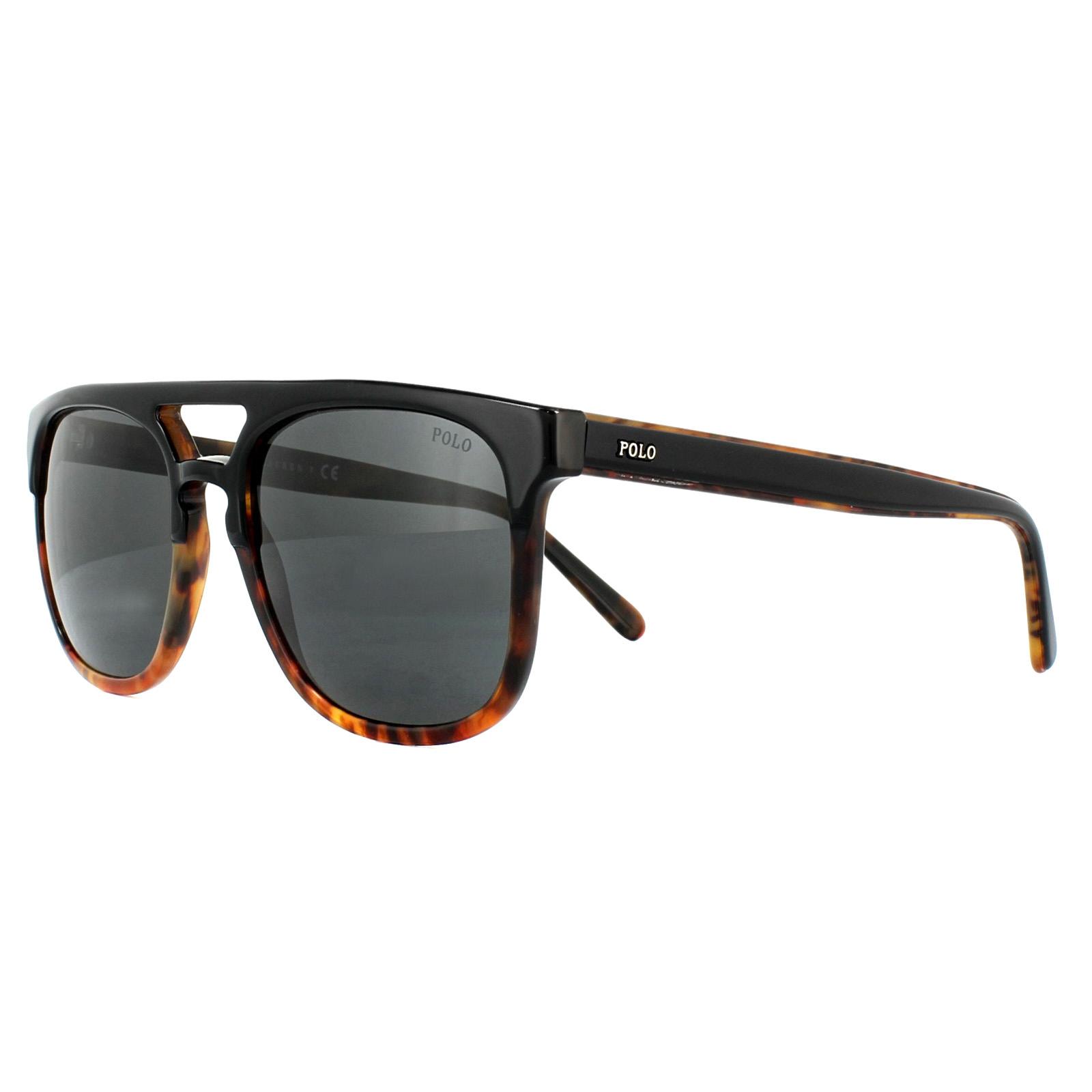 6f9eea7c49 Sentinel Polo Ralph Lauren Sunglasses PH4125 526087 Top Black on Jerry  Havana Dark Grey
