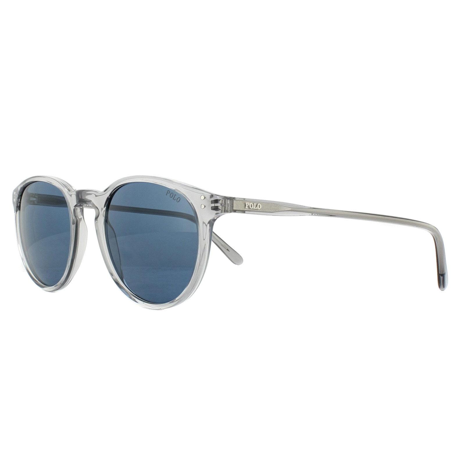 1f5b9f34016 Sentinel Polo Ralph Lauren Sunglasses PH4110 541380 Shiny Transparent Grey  Dark Blue
