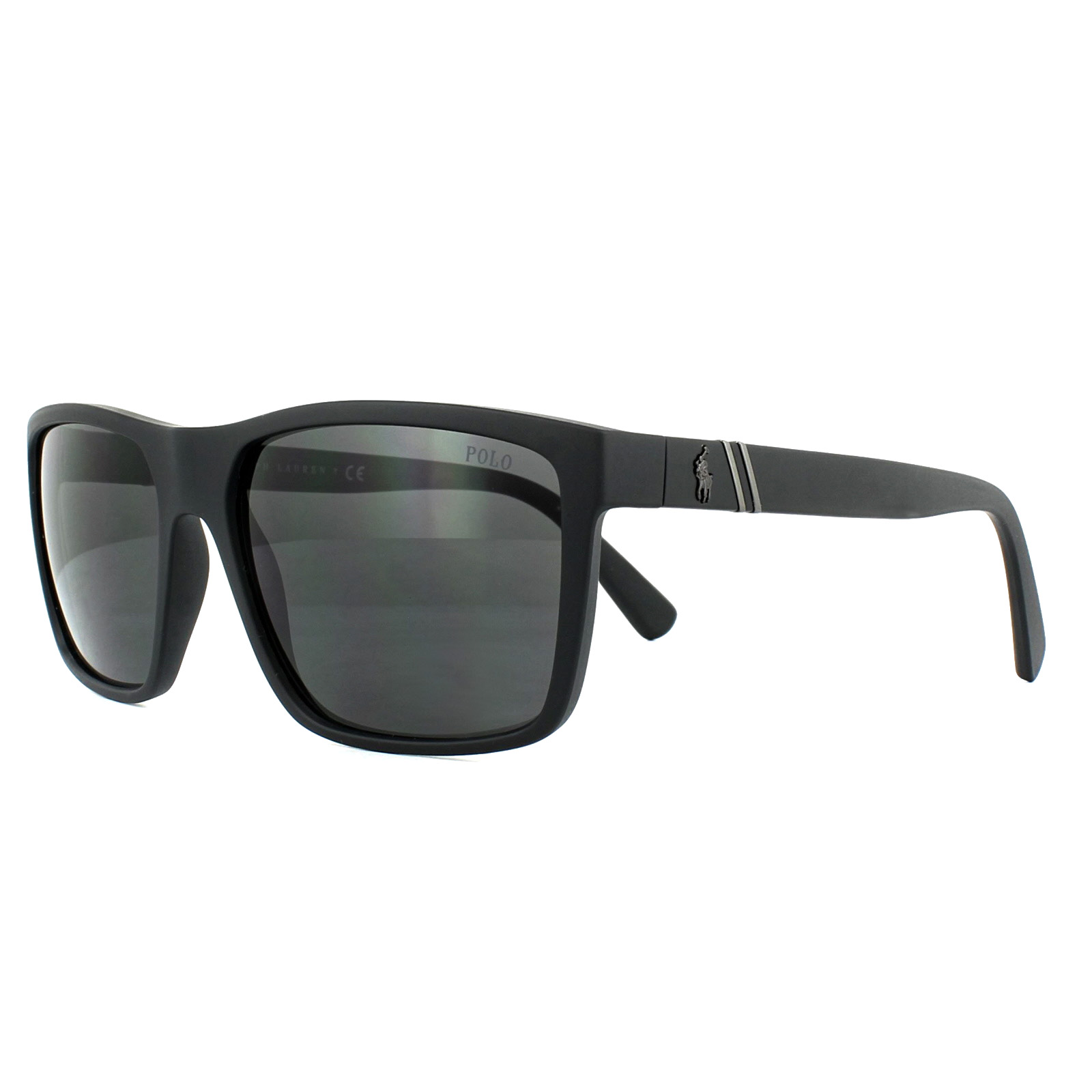 Sentinel Polo Ralph Lauren Sunglasses PH4133 528487 Matt Black Dark Grey ecd10bccc2