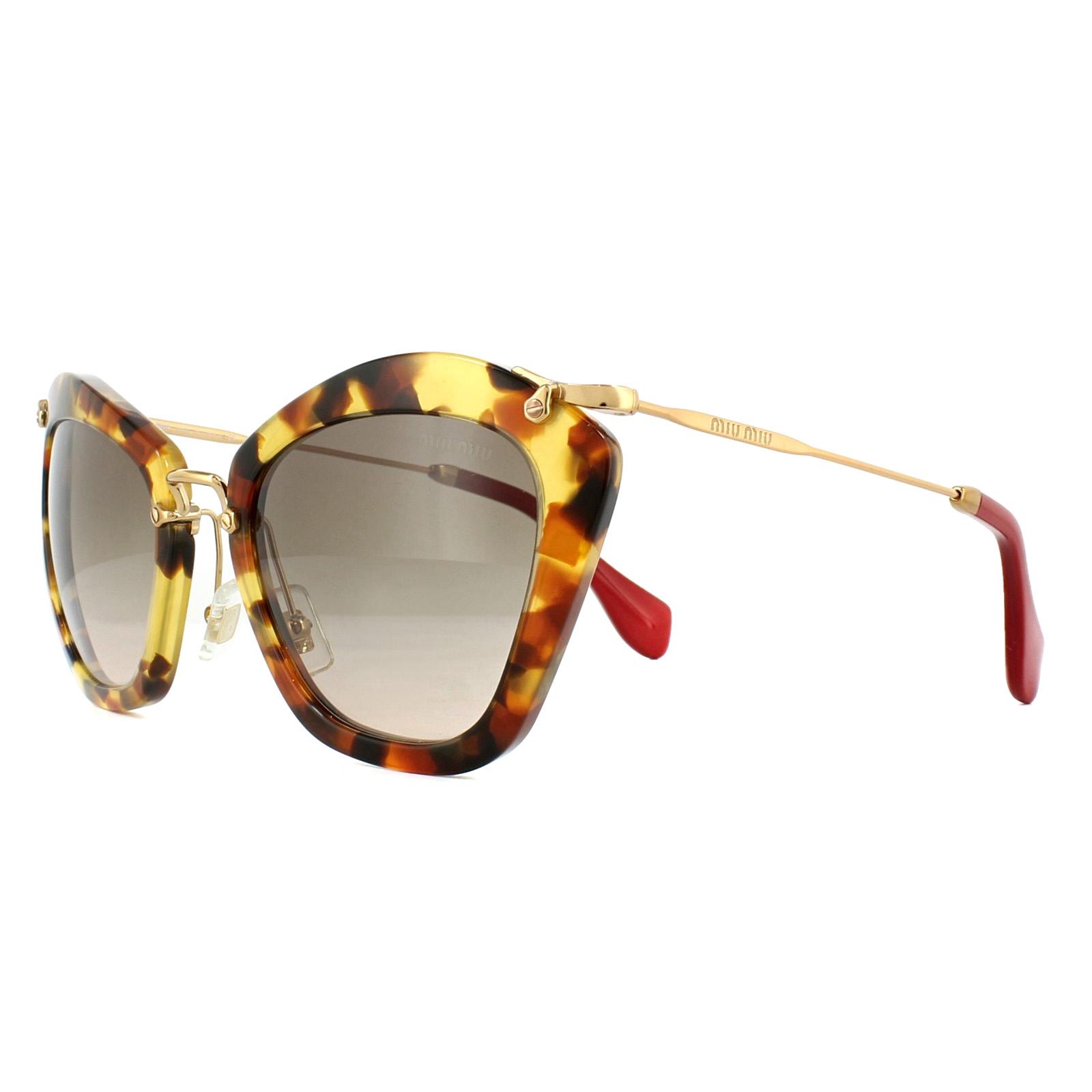 6875919d2b7 Sentinel Miu Miu Sunglasses 10NS UBR3D0 Light Havana Gold Brown Gradient