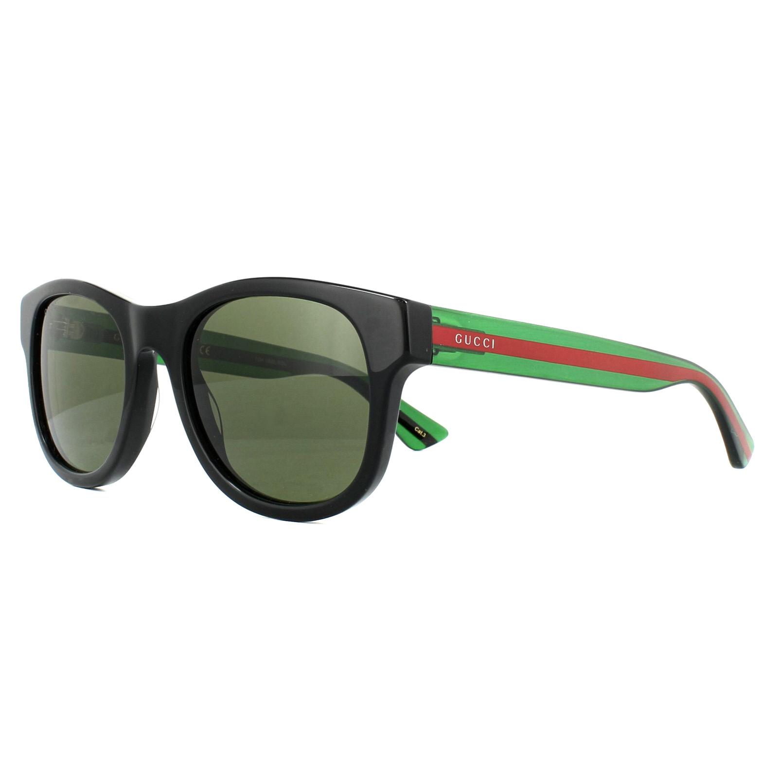 9ab99f03b242 Gucci Sunglasses GG0003S 002 Black Green Red Green 889652047188 | eBay