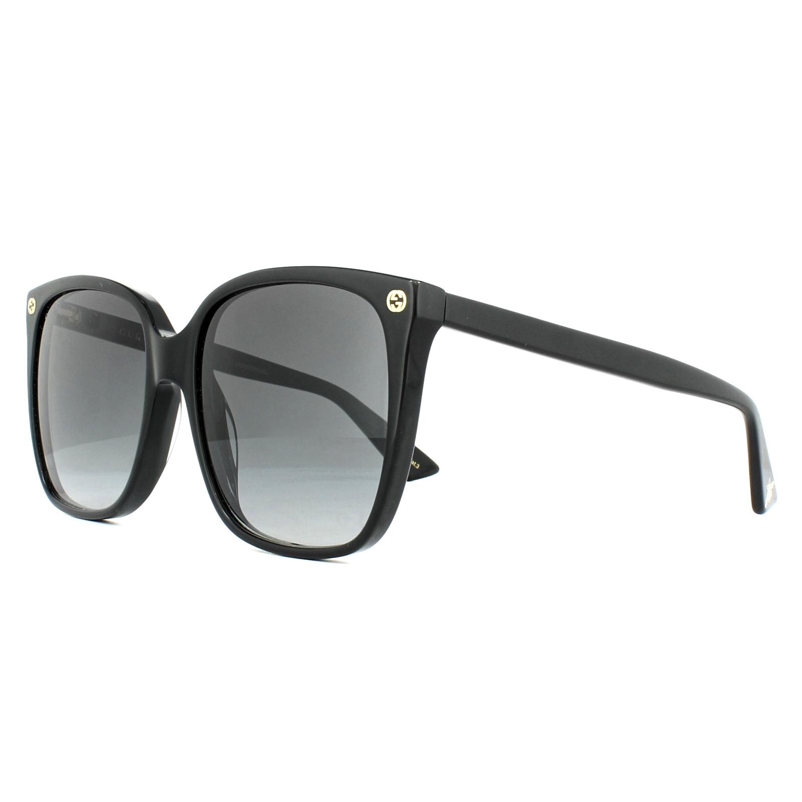 fac94dcd16b Sentinel Gucci Sunglasses GG0022S 001 Black Grey Gradient